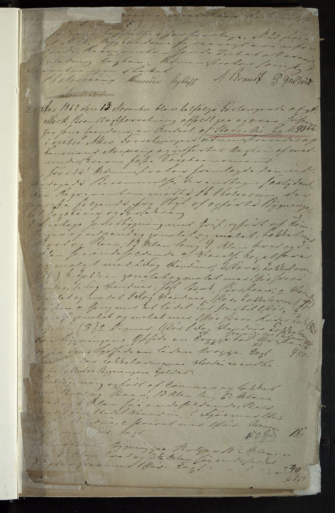 OBA, Lensmennene i Aker, F/Fa/L0002: Branntakstprotokoll, 1860-1868, p. 1a