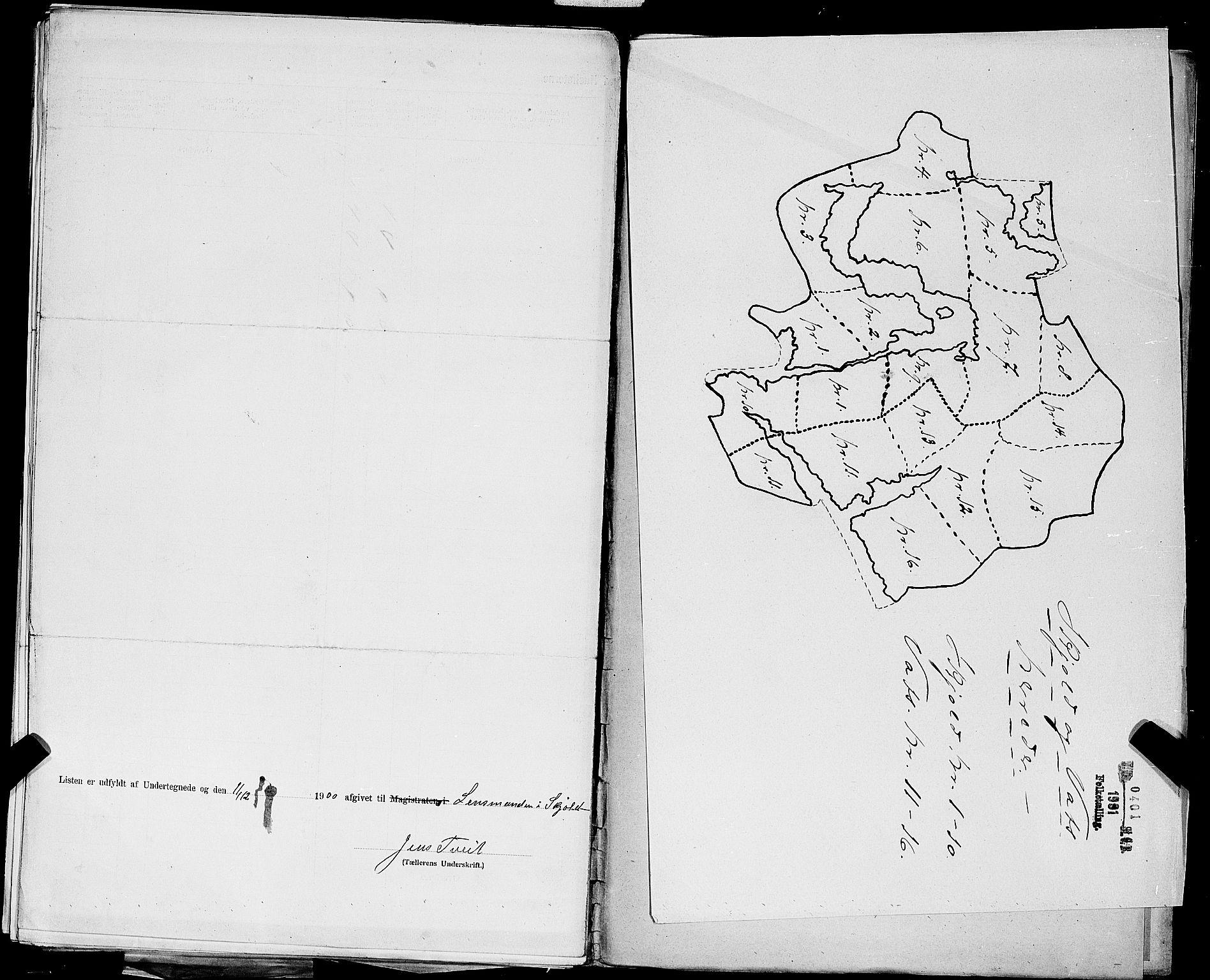 SAST, 1900 census for Skjold, 1900, p. 36