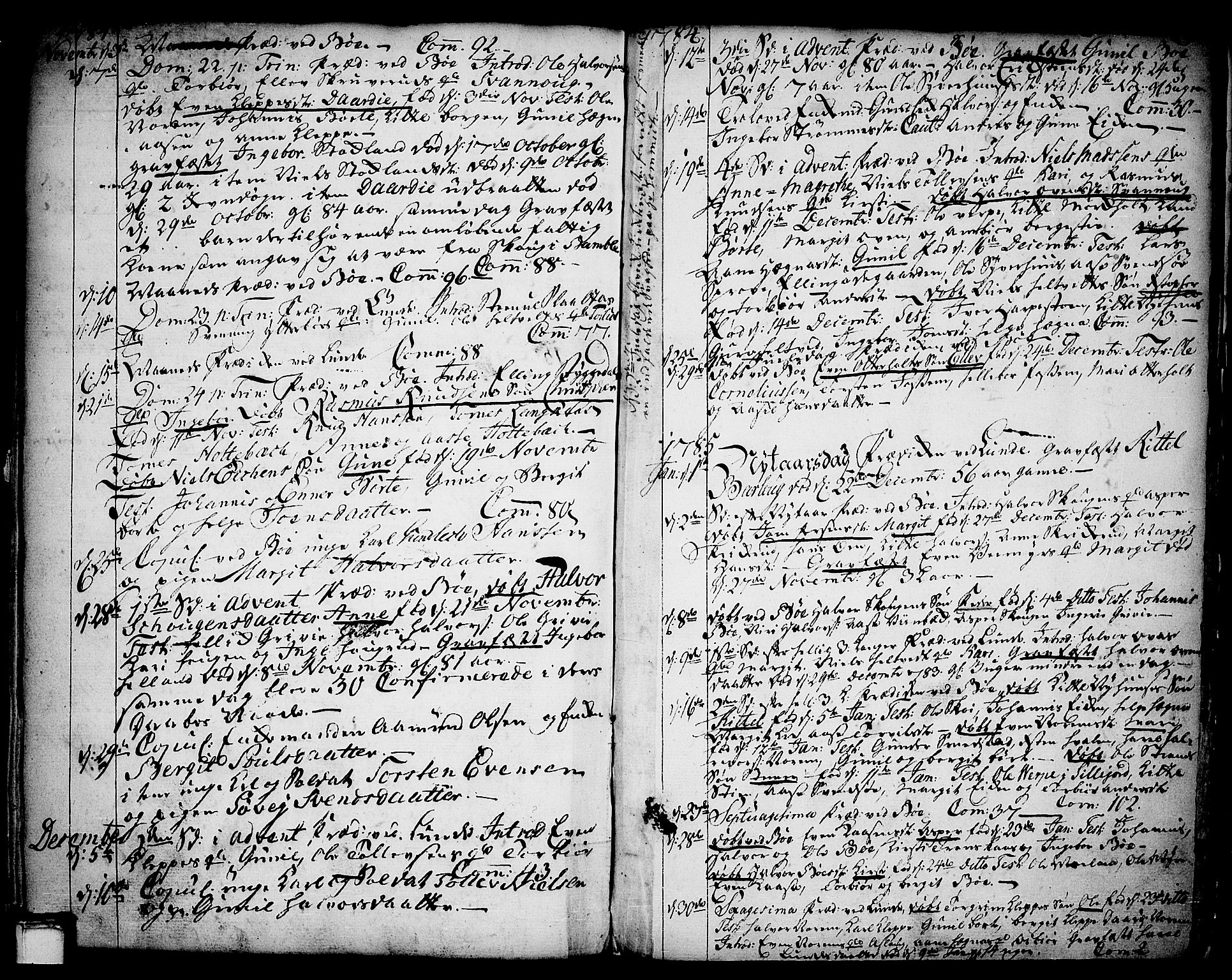 SAKO, Bø kirkebøker, F/Fa/L0004: Parish register (official) no. 4, 1748-1785