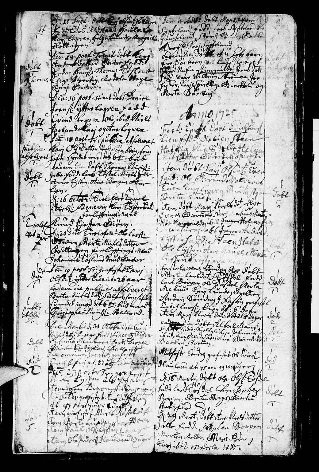 SAB, Os sokneprestembete*, Parish register (official) no. A 2, 1723-1758, p. 5