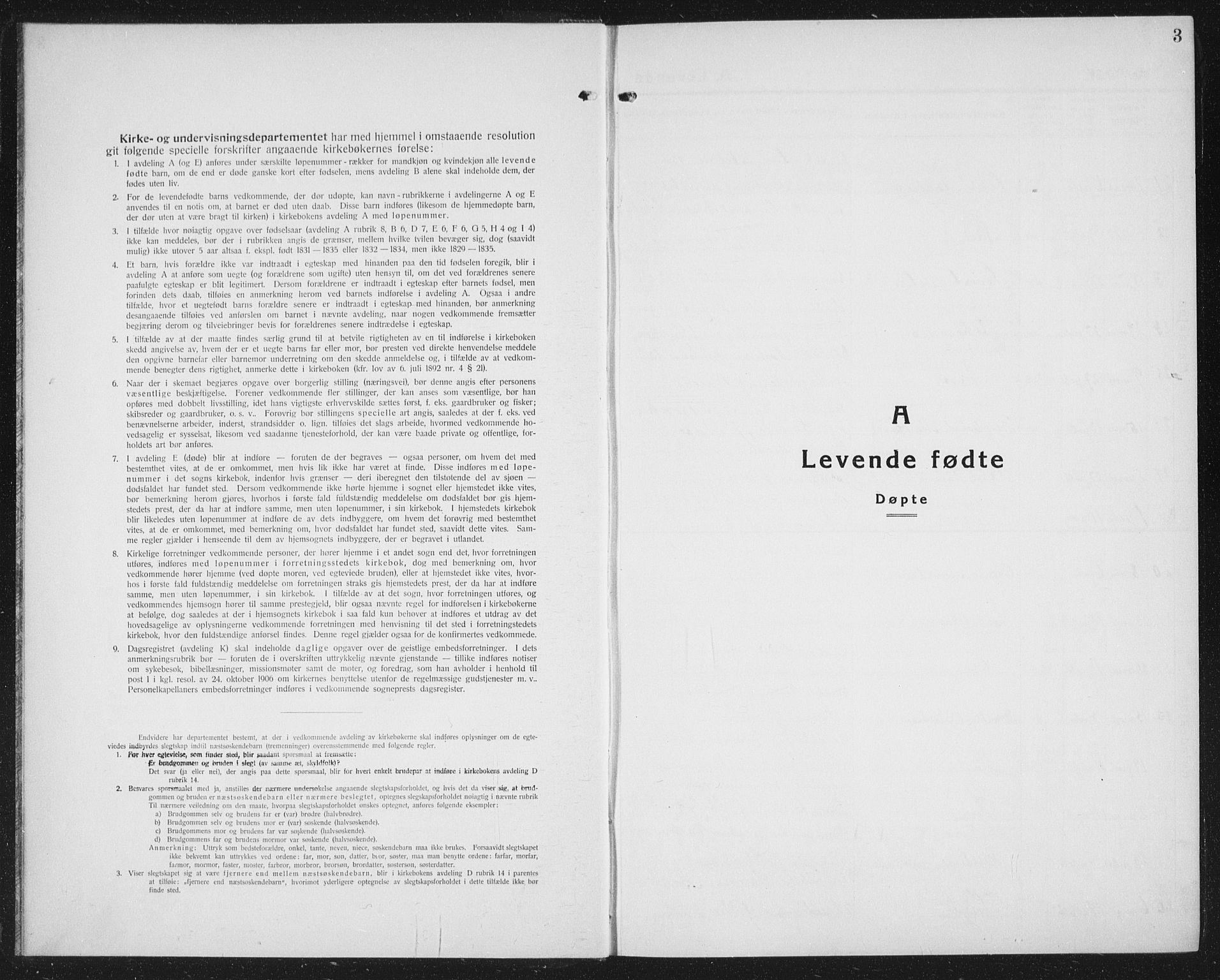 SAT, Ministerialprotokoller, klokkerbøker og fødselsregistre - Nord-Trøndelag, 730/L0303: Parish register (copy) no. 730C06, 1924-1933, p. 3