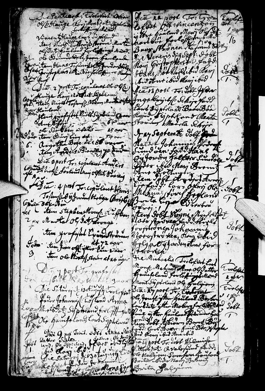 SAB, Os sokneprestembete*, Parish register (official) no. A 2, 1723-1758, p. 16