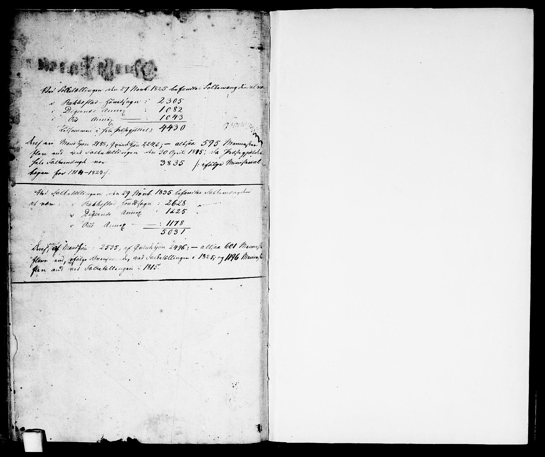 SAO, Rakkestad prestekontor Kirkebøker, F/Fa/L0007: Parish register (official) no. I 7, 1825-1841
