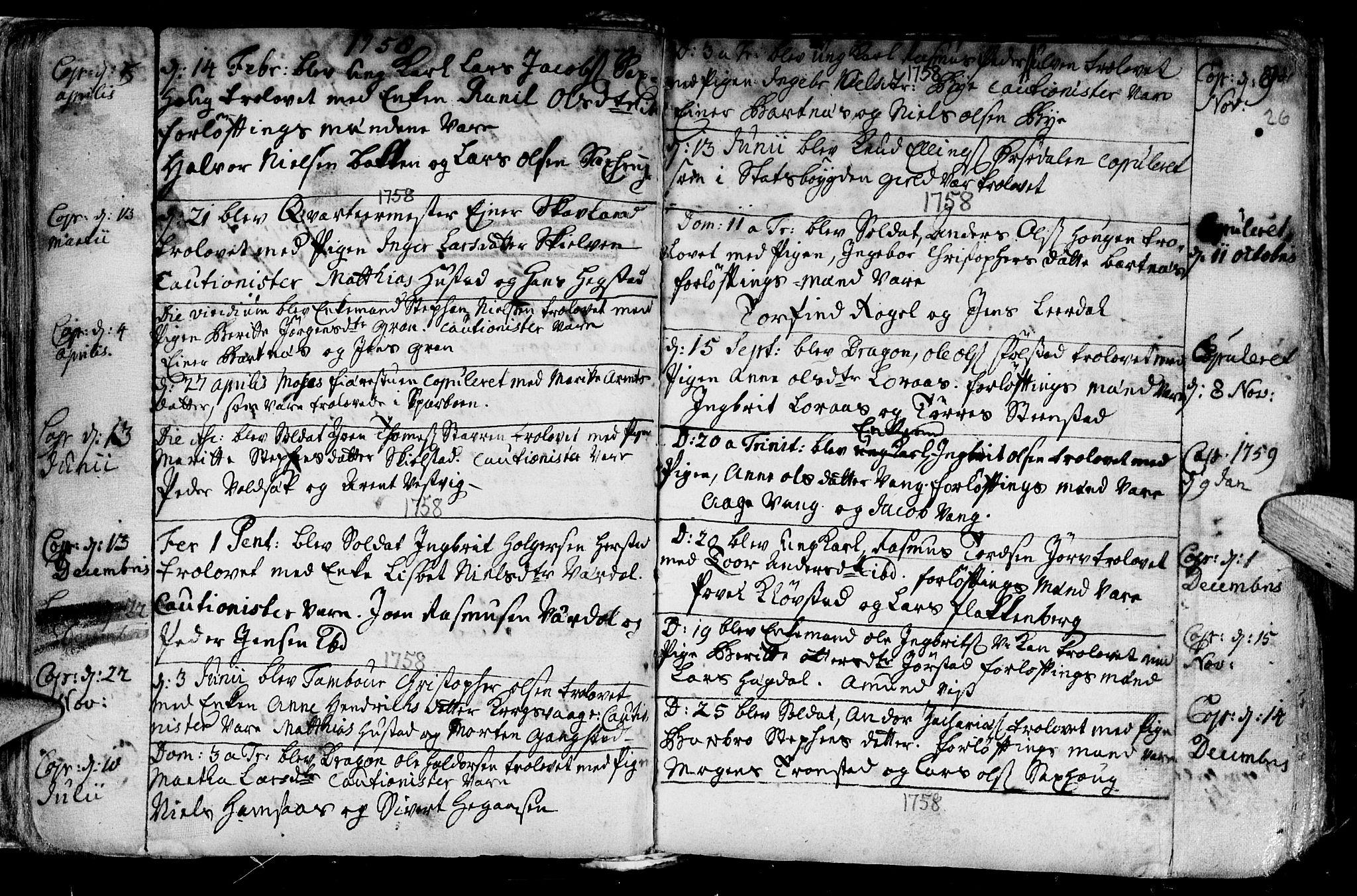 SAT, Ministerialprotokoller, klokkerbøker og fødselsregistre - Nord-Trøndelag, 730/L0272: Parish register (official) no. 730A01, 1733-1764, p. 26