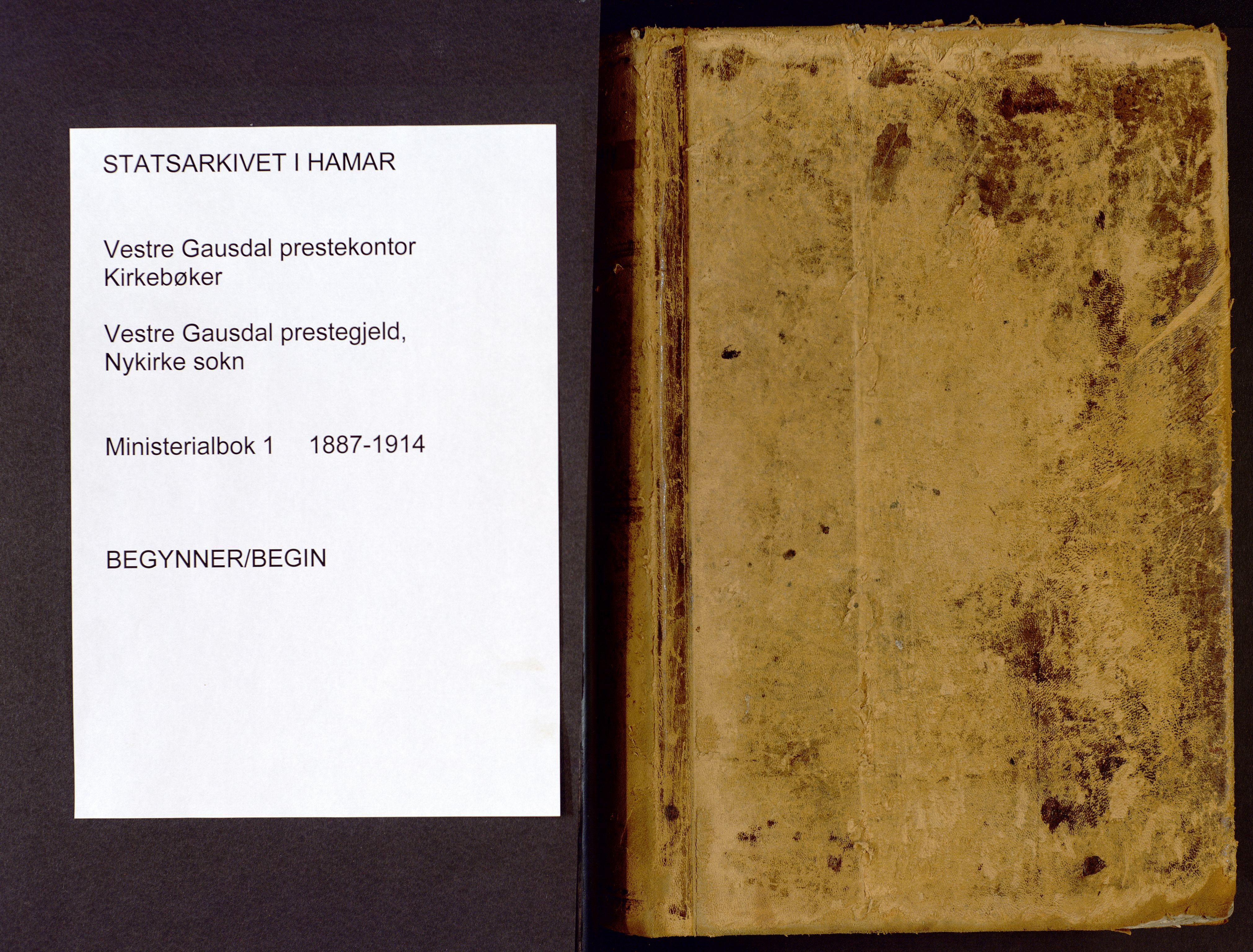 SAH, Vestre Gausdal prestekontor, Parish register (official) no. 1, 1887-1914