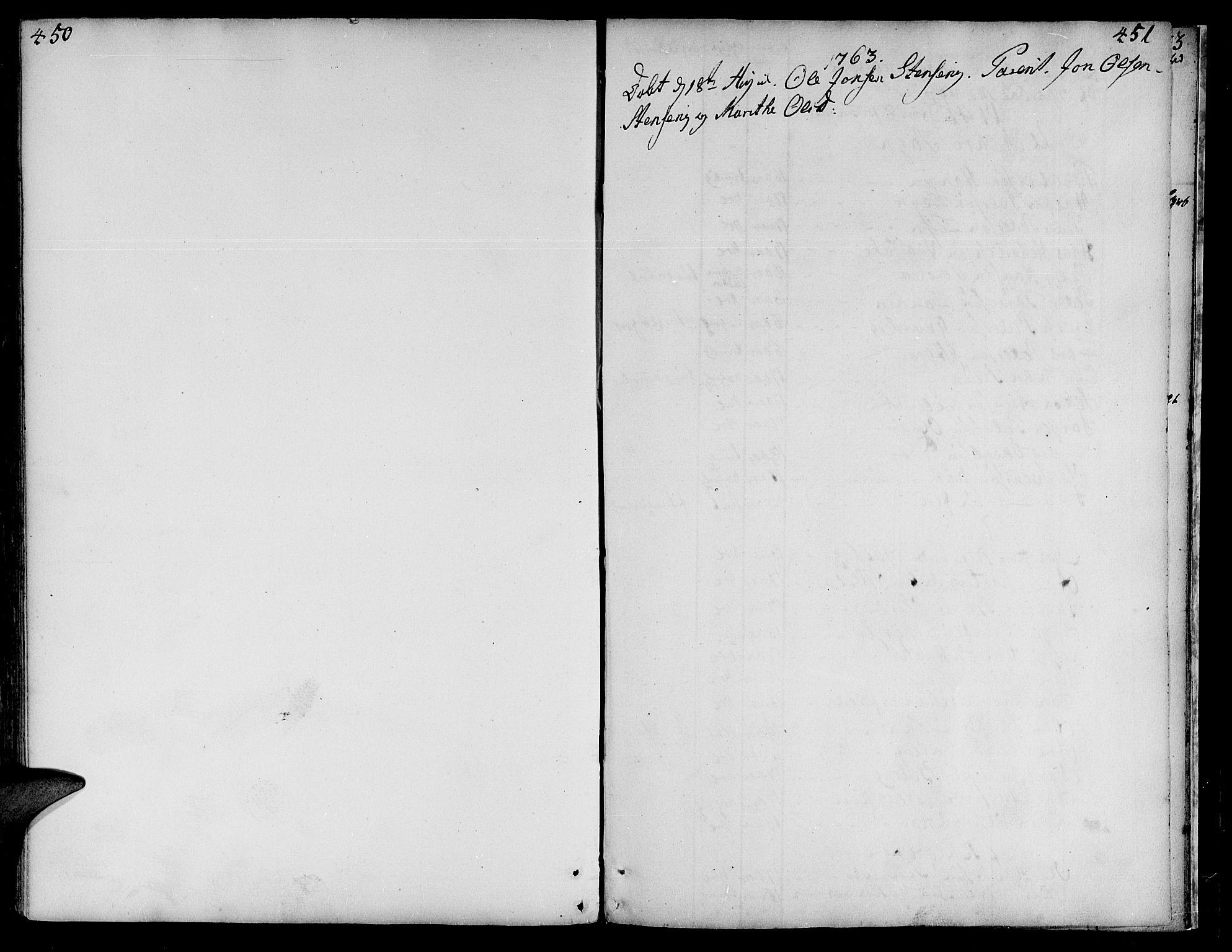 SAT, Ministerialprotokoller, klokkerbøker og fødselsregistre - Nord-Trøndelag, 735/L0330: Parish register (official) no. 735A01, 1740-1766, p. 450-451