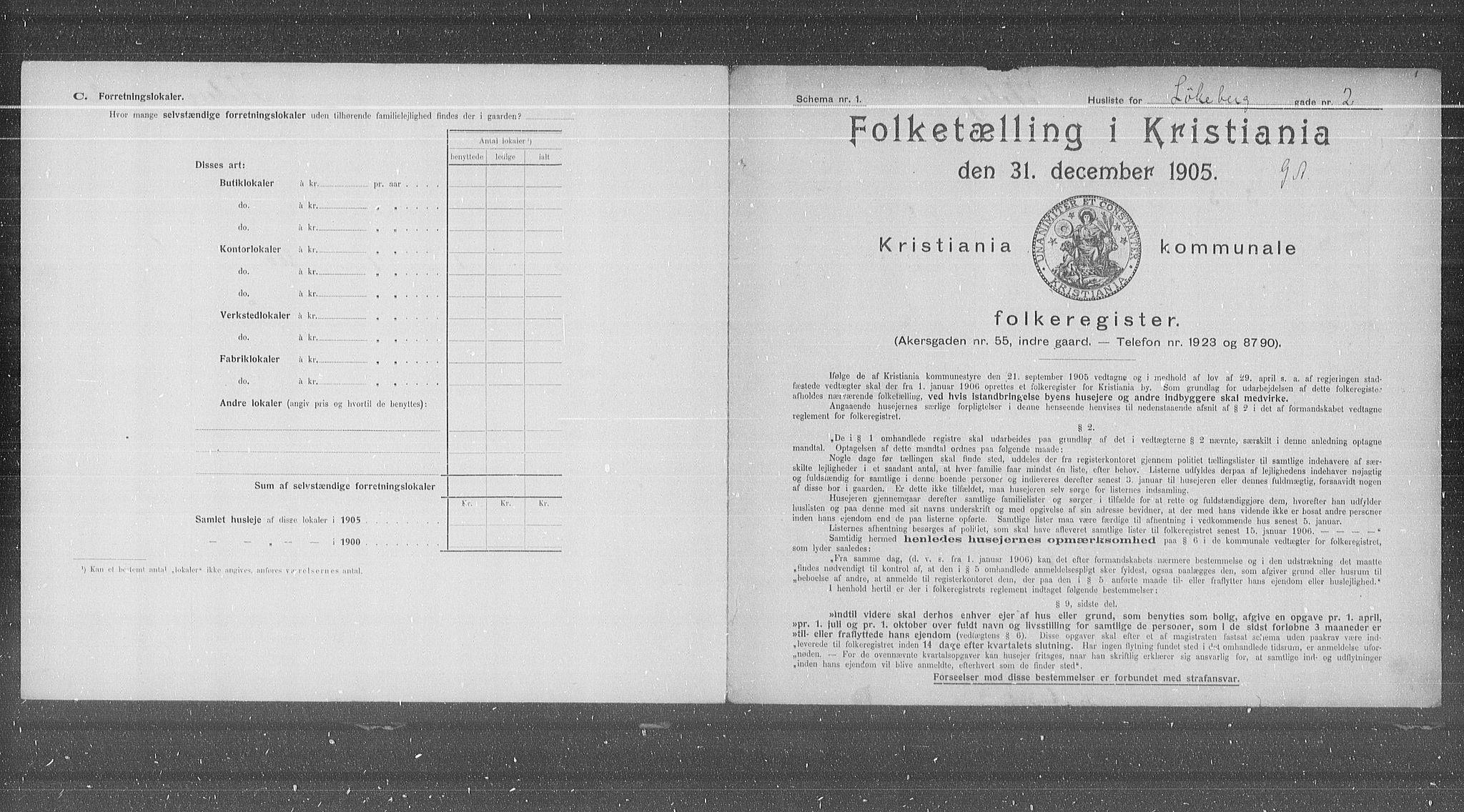 OBA, Municipal Census 1905 for Kristiania, 1905, p. 30807