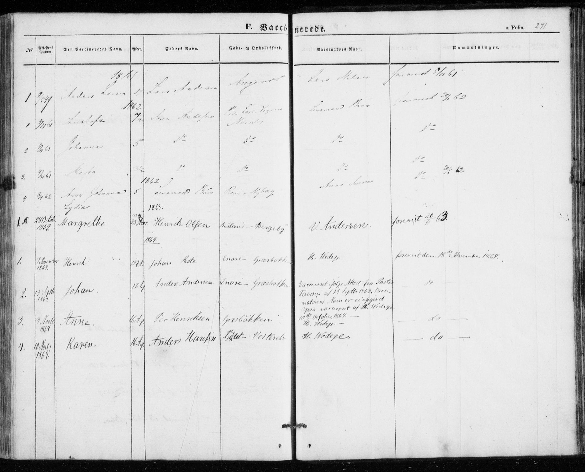 SATØ, Nesseby sokneprestkontor, H/Ha/L0002kirke: Parish register (official) no. 2, 1856-1864, p. 271