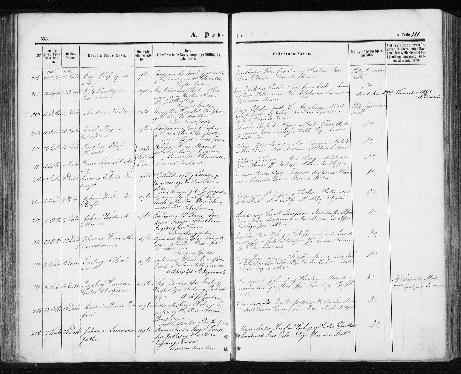 SAT, Ministerialprotokoller, klokkerbøker og fødselsregistre - Sør-Trøndelag, 601/L0053: Parish register (official) no. 601A21, 1857-1865, p. 111