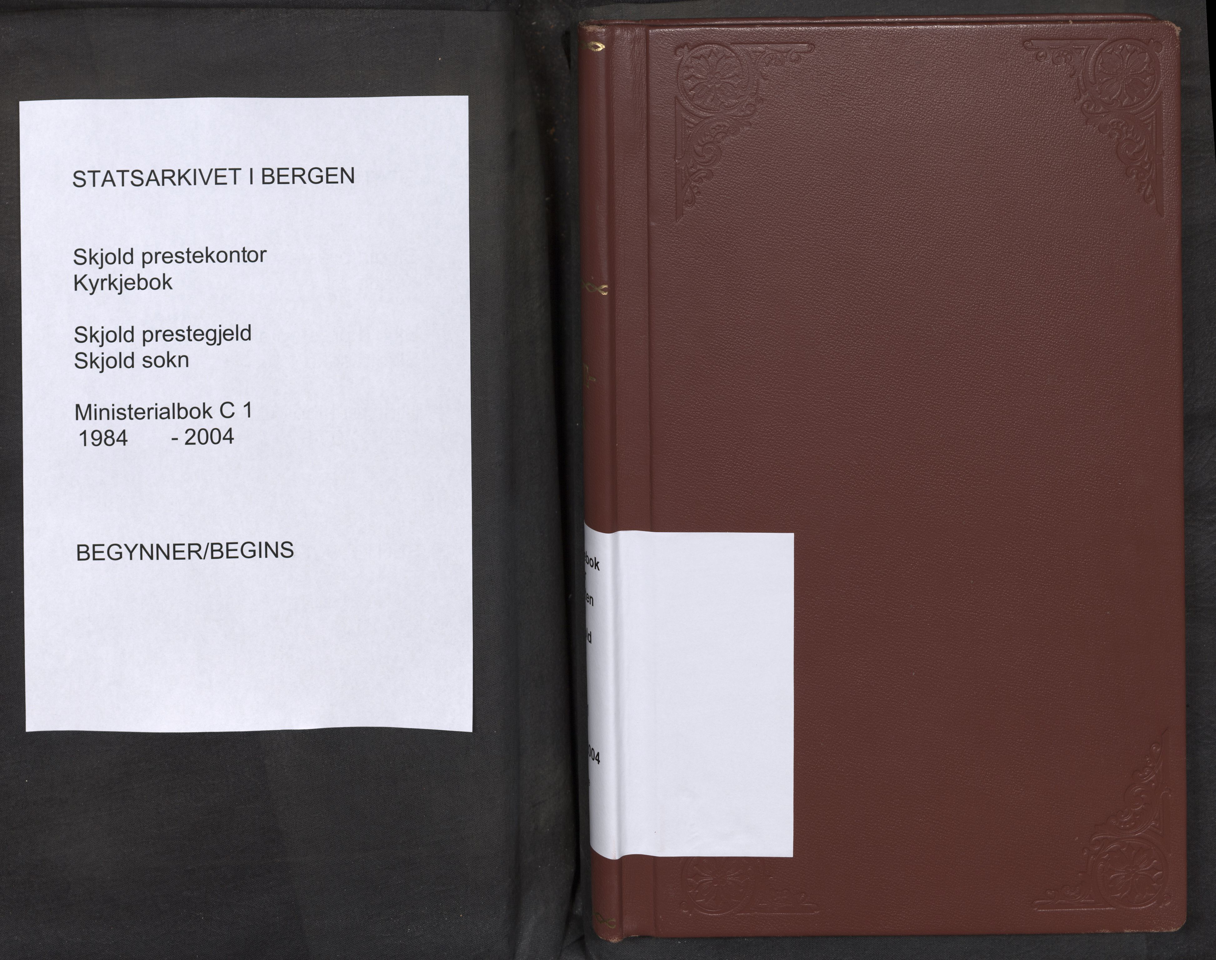 SAB, Nordås sokneprestembete, Parish register (official) no. C 1, 1984-2004