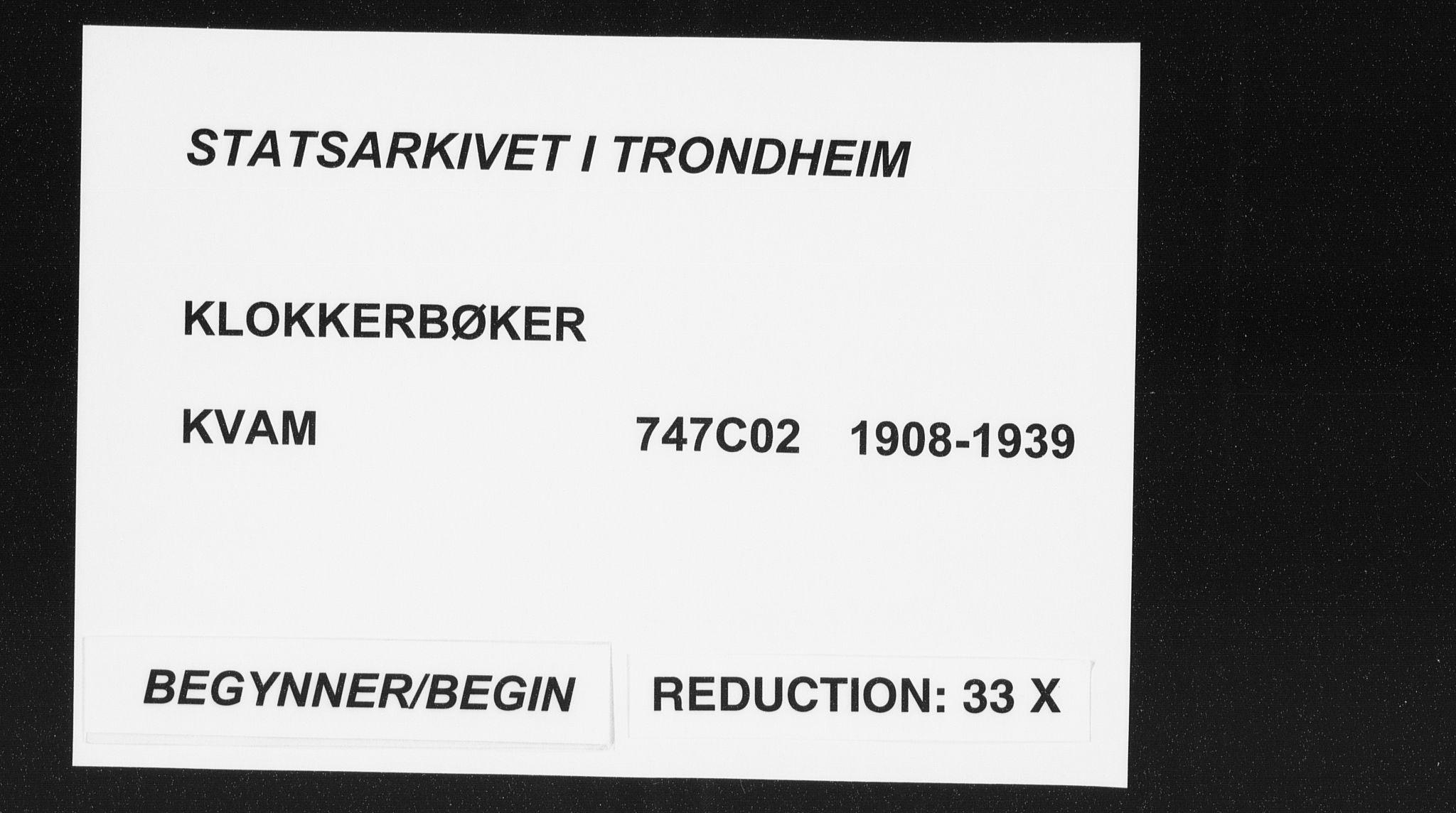 SAT, Ministerialprotokoller, klokkerbøker og fødselsregistre - Nord-Trøndelag, 747/L0460: Parish register (copy) no. 747C02, 1908-1939