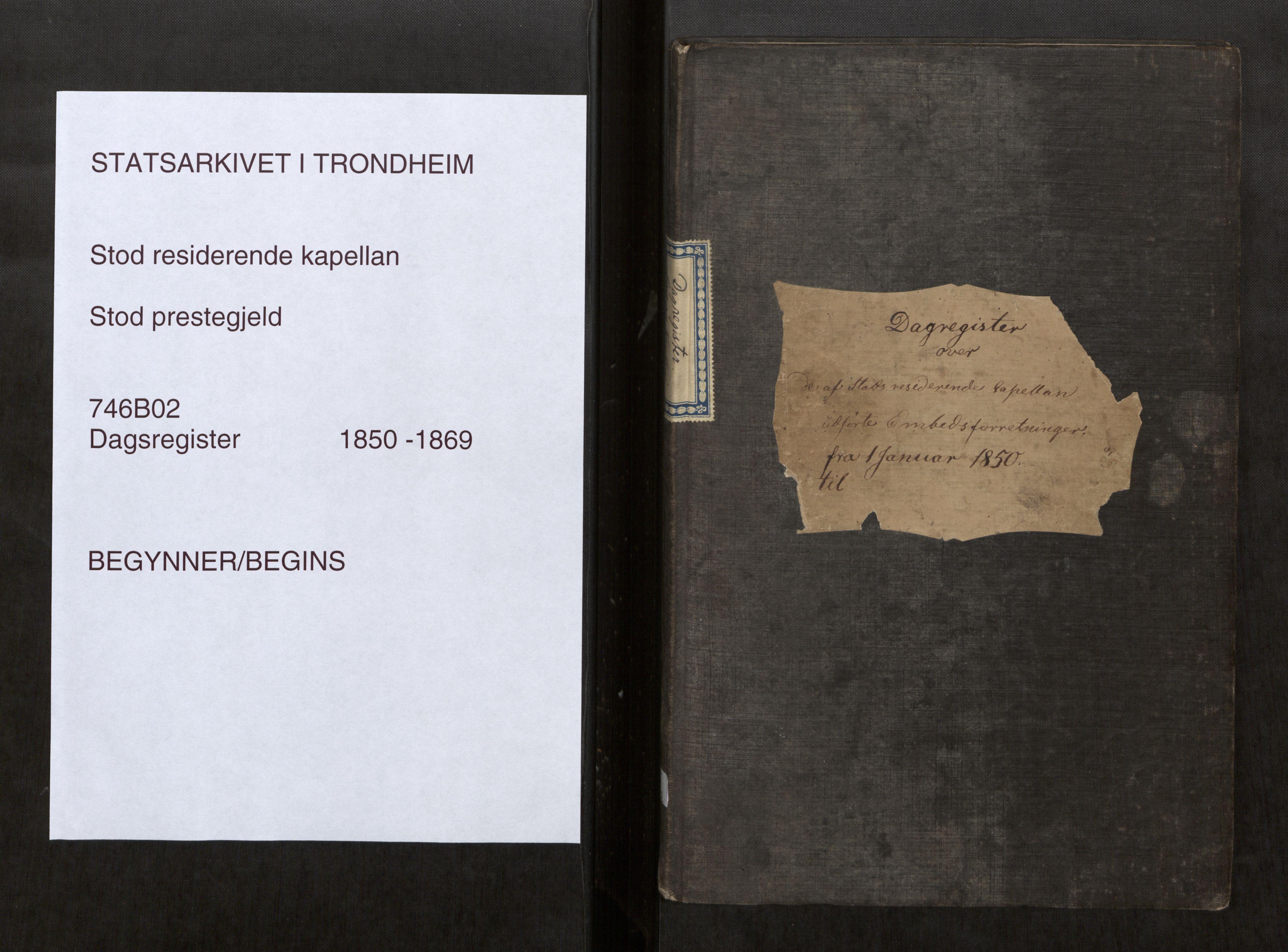 SAT, Stod sokneprestkontor, I/I1/I1d/L0002: Curate's parish register no. 2, 1850-1869