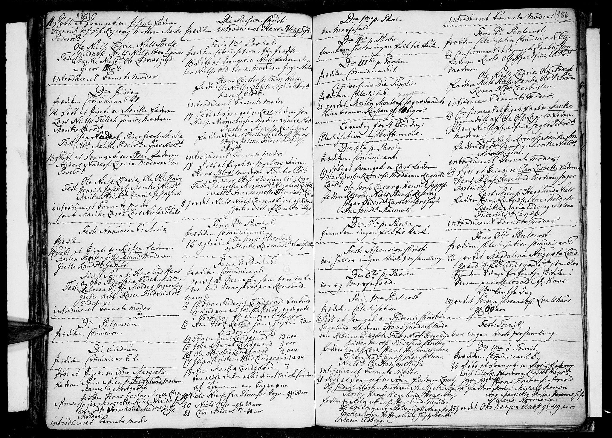 SATØ, Tromsø sokneprestkontor/stiftsprosti/domprosti, G/Ga/L0001kirke: Parish register (official) no. 1, 1709-1771, p. 185-186