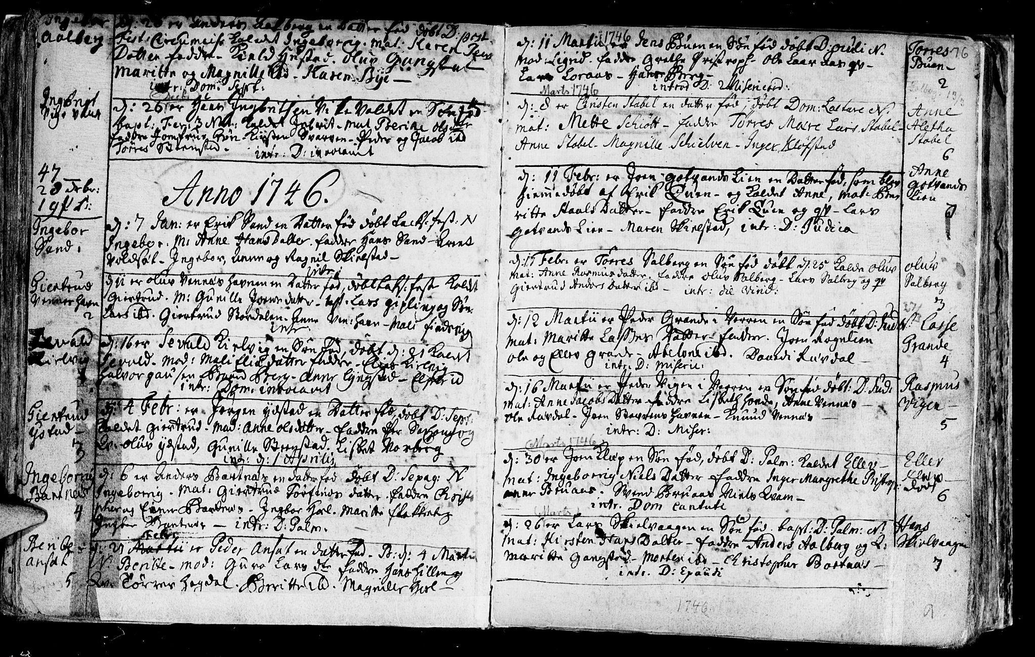 SAT, Ministerialprotokoller, klokkerbøker og fødselsregistre - Nord-Trøndelag, 730/L0272: Parish register (official) no. 730A01, 1733-1764, p. 76