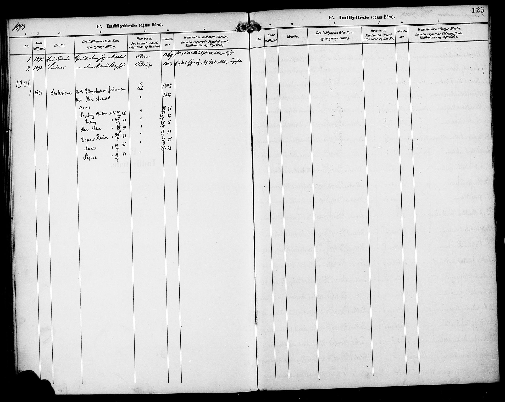 SAB, Manger sokneprestembete, H/Haa: Parish register (official) no. B 2, 1893-1906, p. 125