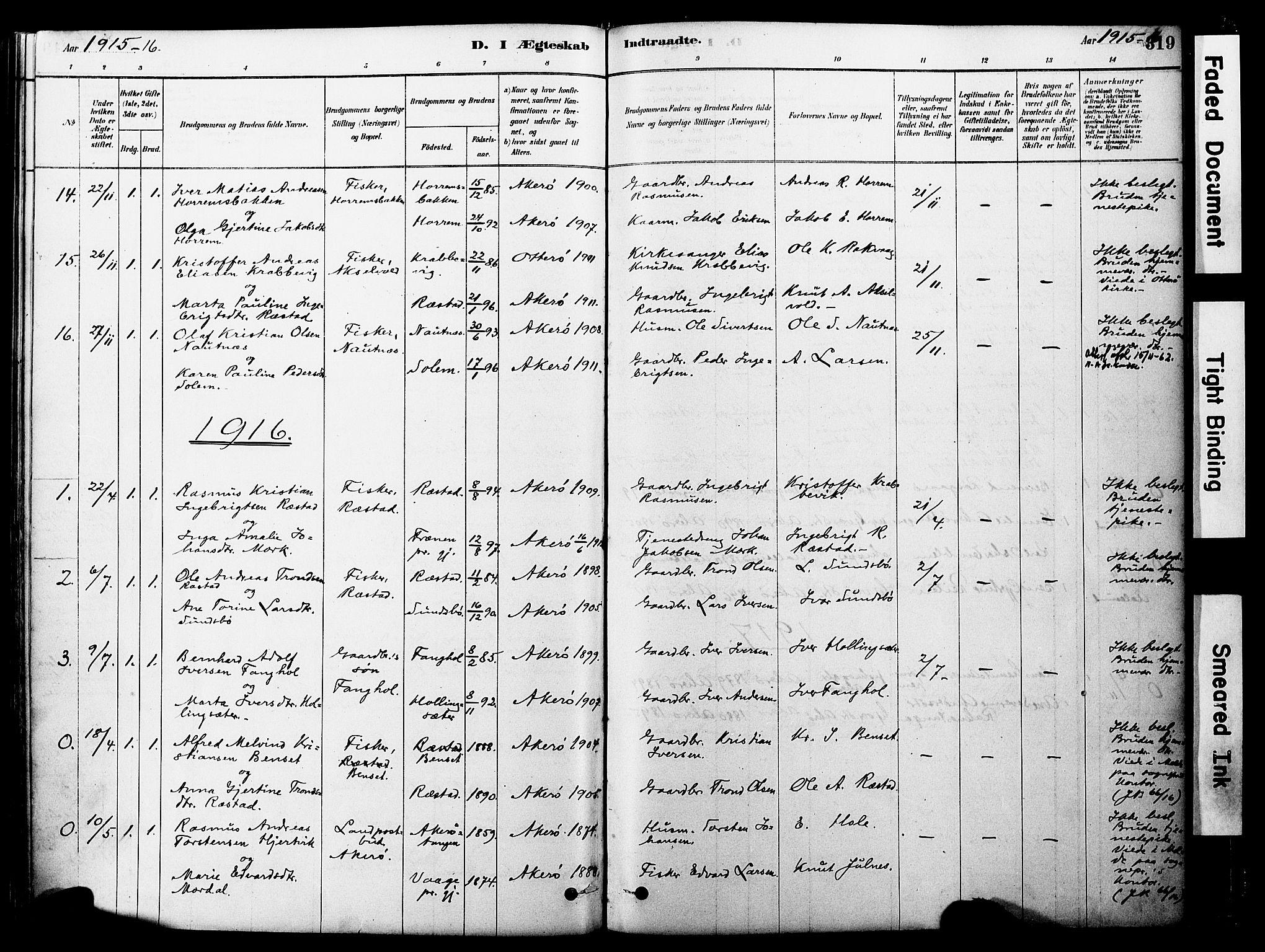 SAT, Ministerialprotokoller, klokkerbøker og fødselsregistre - Møre og Romsdal, 560/L0721: Parish register (official) no. 560A05, 1878-1917, p. 319