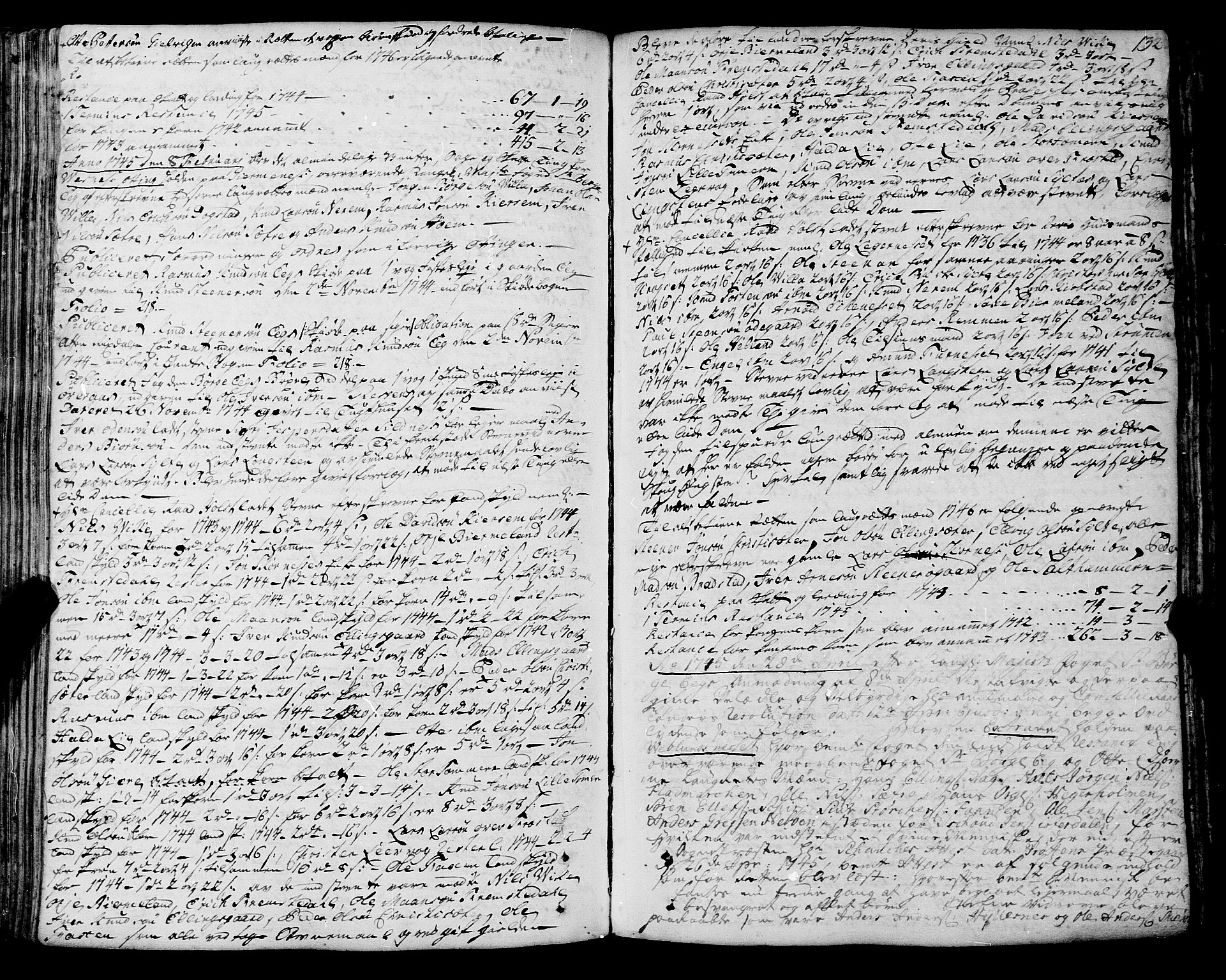 SAT, Romsdal sorenskriveri, 1/1A/L0012: Tingbok, 1740-1749, p. 131b-132a