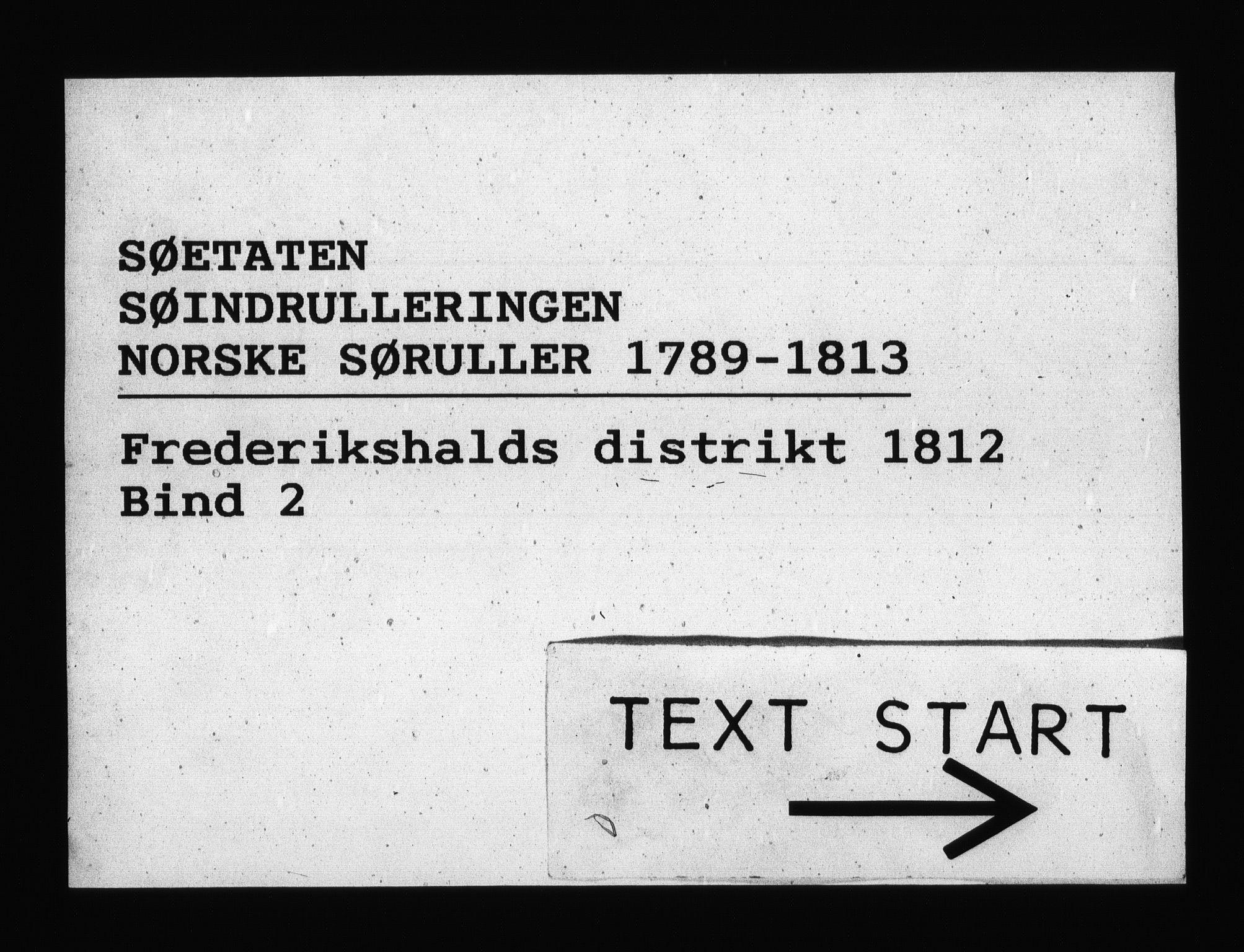 RA, Sjøetaten, F/L0207: Fredrikshalds distrikt, bind 2, 1812