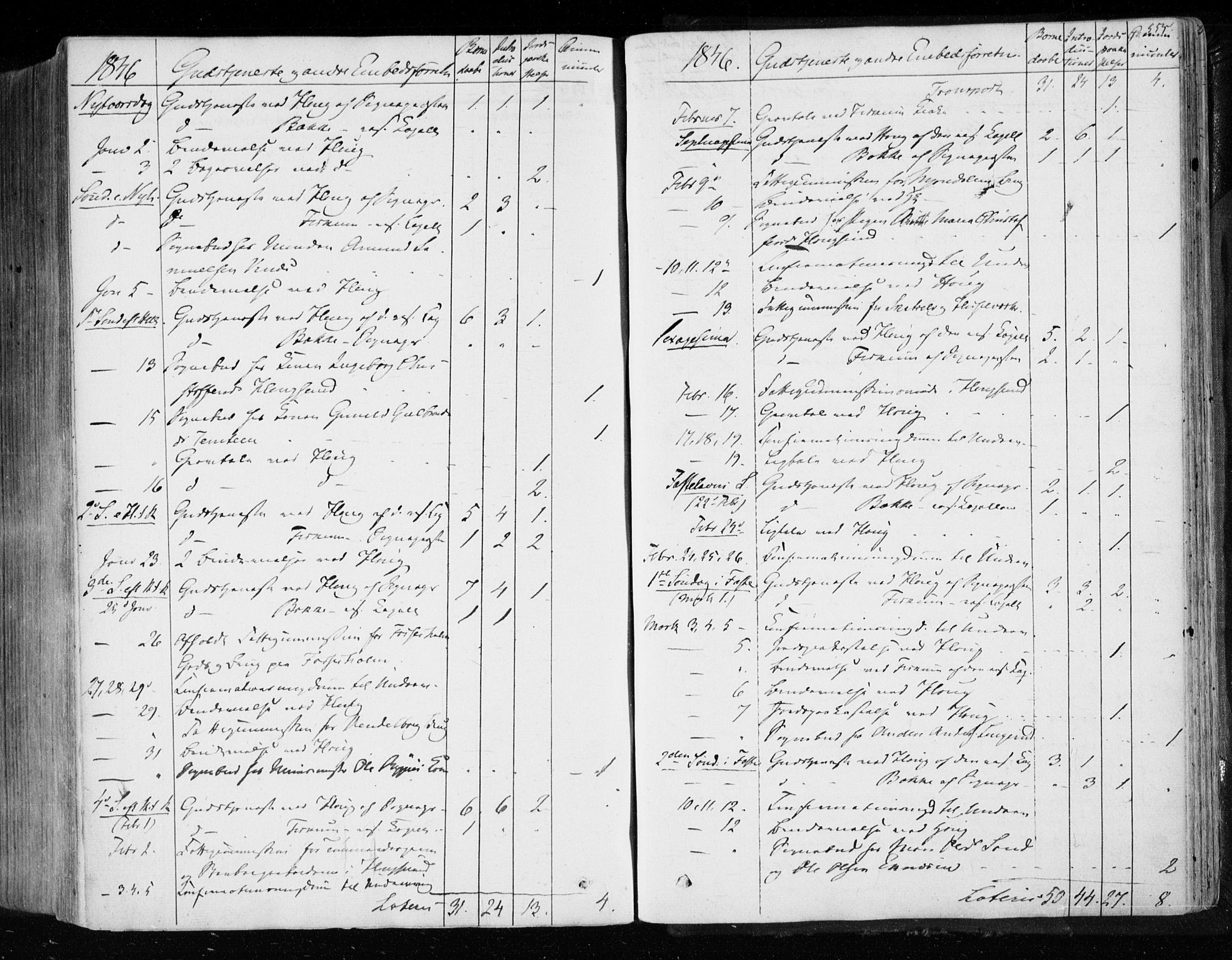 SAKO, Eiker kirkebøker, F/Fa/L0014: Parish register (official) no. I 14, 1846-1854, p. 554