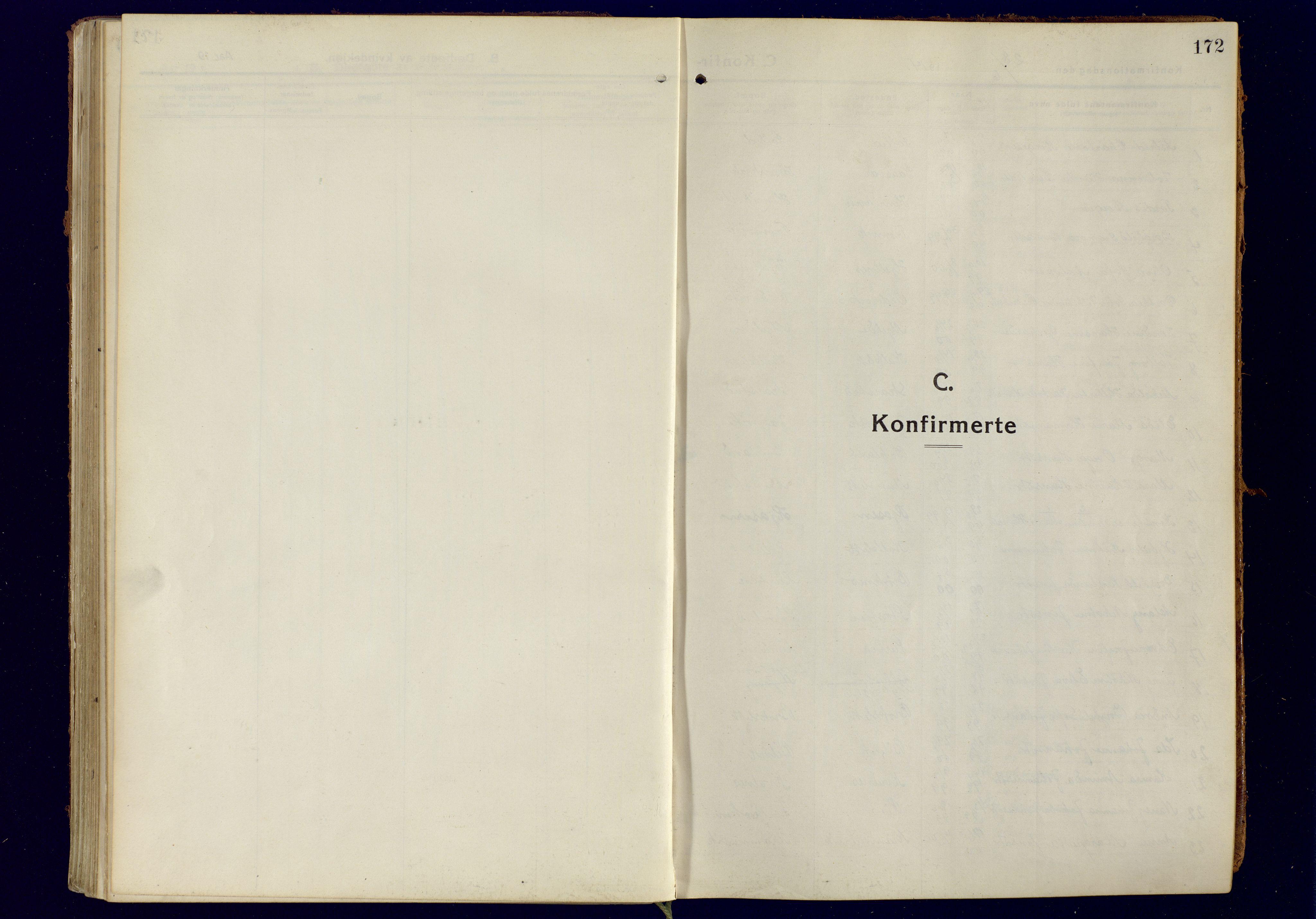 SATØ, Tromsøysund sokneprestkontor, G/Ga: Parish register (official) no. 8, 1914-1922, p. 172