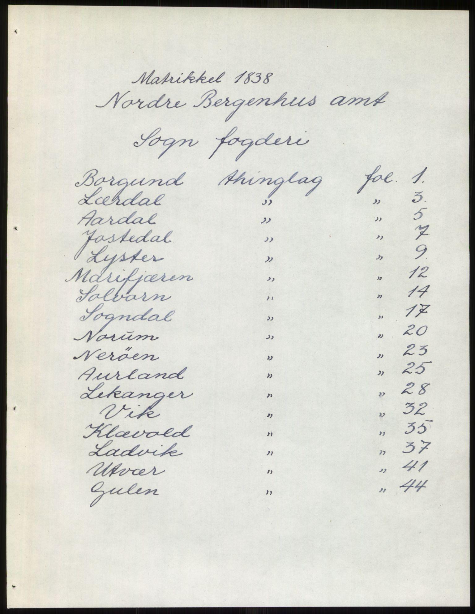 RA, 1838-matrikkelen (publikasjon)*, 1838, p. 1