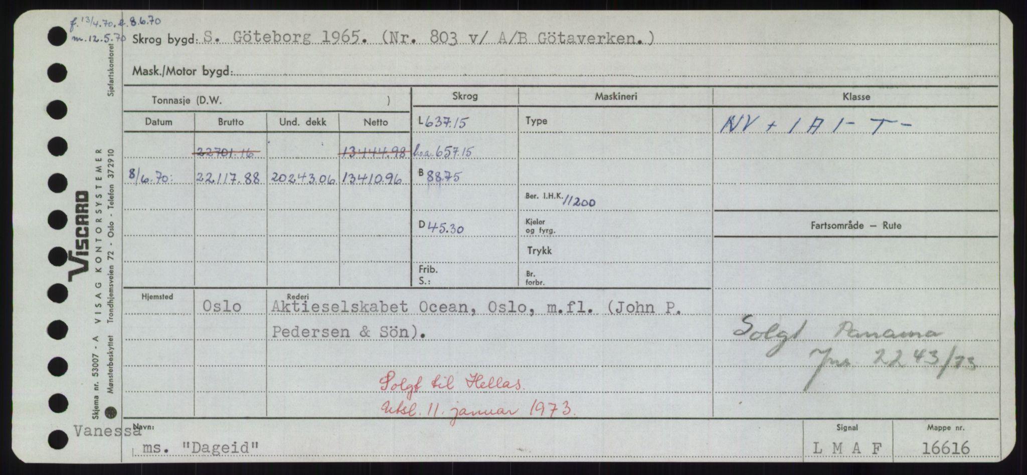 RA, Sjøfartsdirektoratet med forløpere, Skipsmålingen, H/Hd/L0008: Fartøy, C-D, p. 313