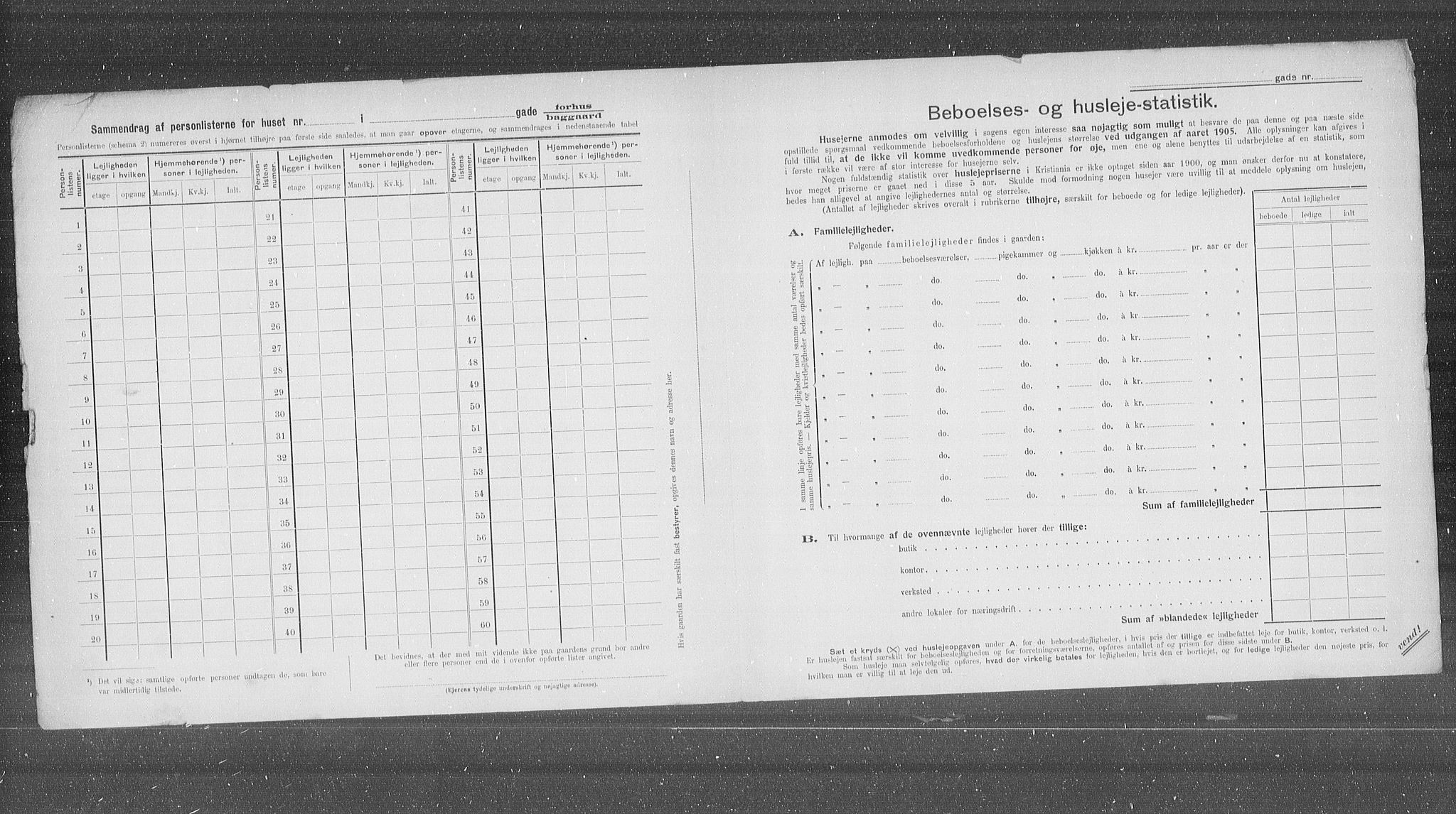 OBA, Municipal Census 1905 for Kristiania, 1905, p. 30114