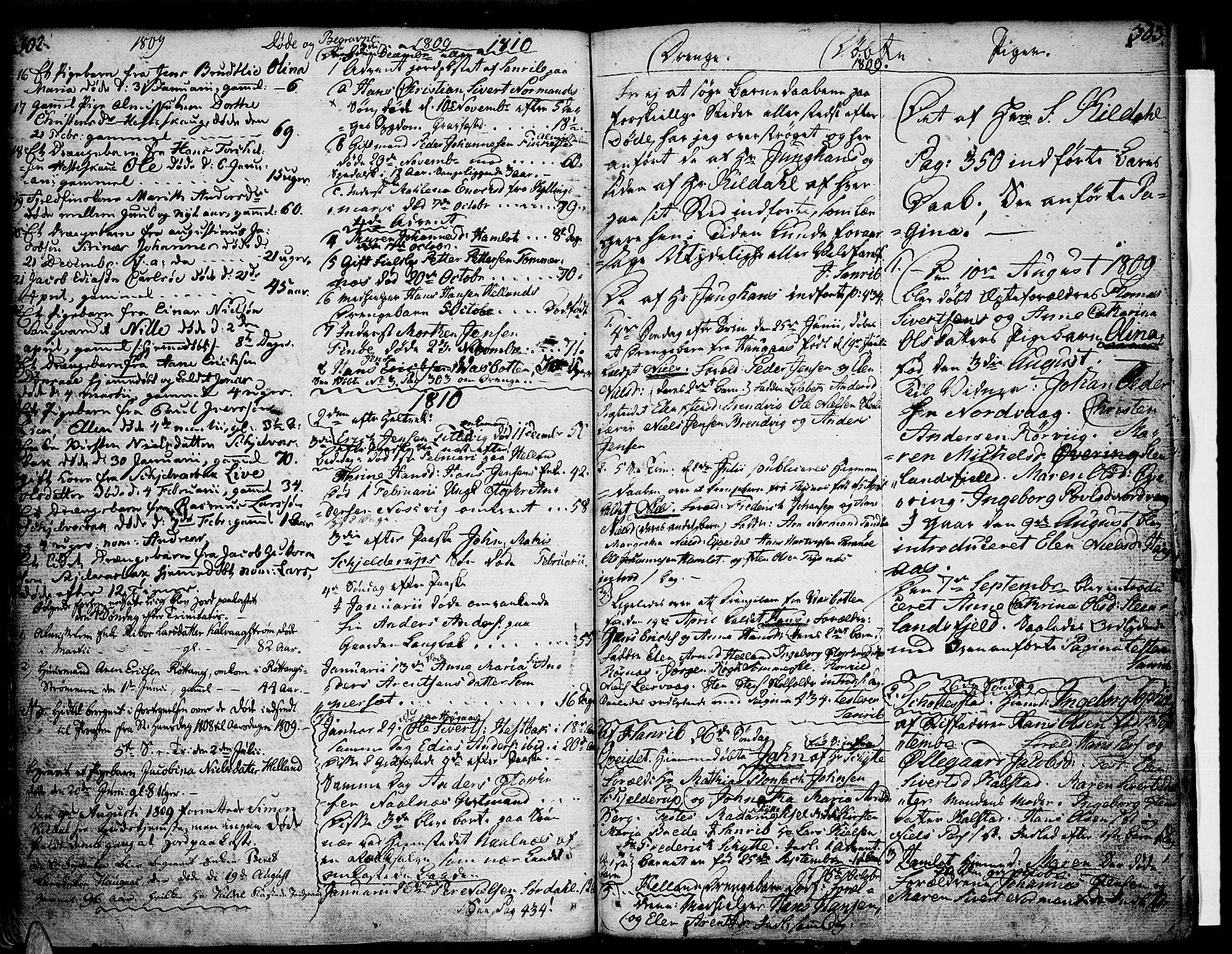 SAT, Ministerialprotokoller, klokkerbøker og fødselsregistre - Nordland, 859/L0841: Parish register (official) no. 859A01, 1766-1821, p. 302-303