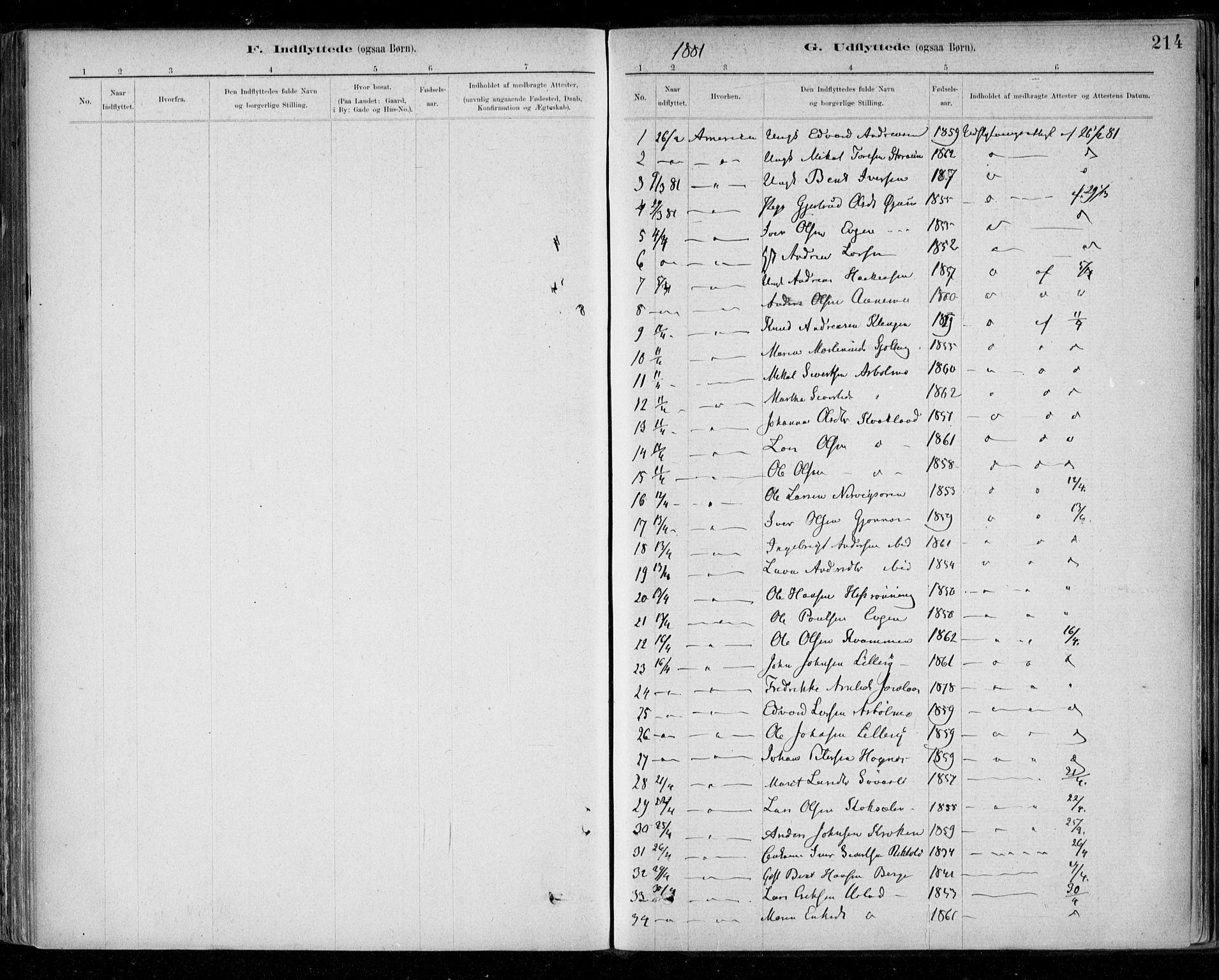 SAT, Ministerialprotokoller, klokkerbøker og fødselsregistre - Sør-Trøndelag, 668/L0810: Parish register (official) no. 668A10, 1881-1894, p. 214