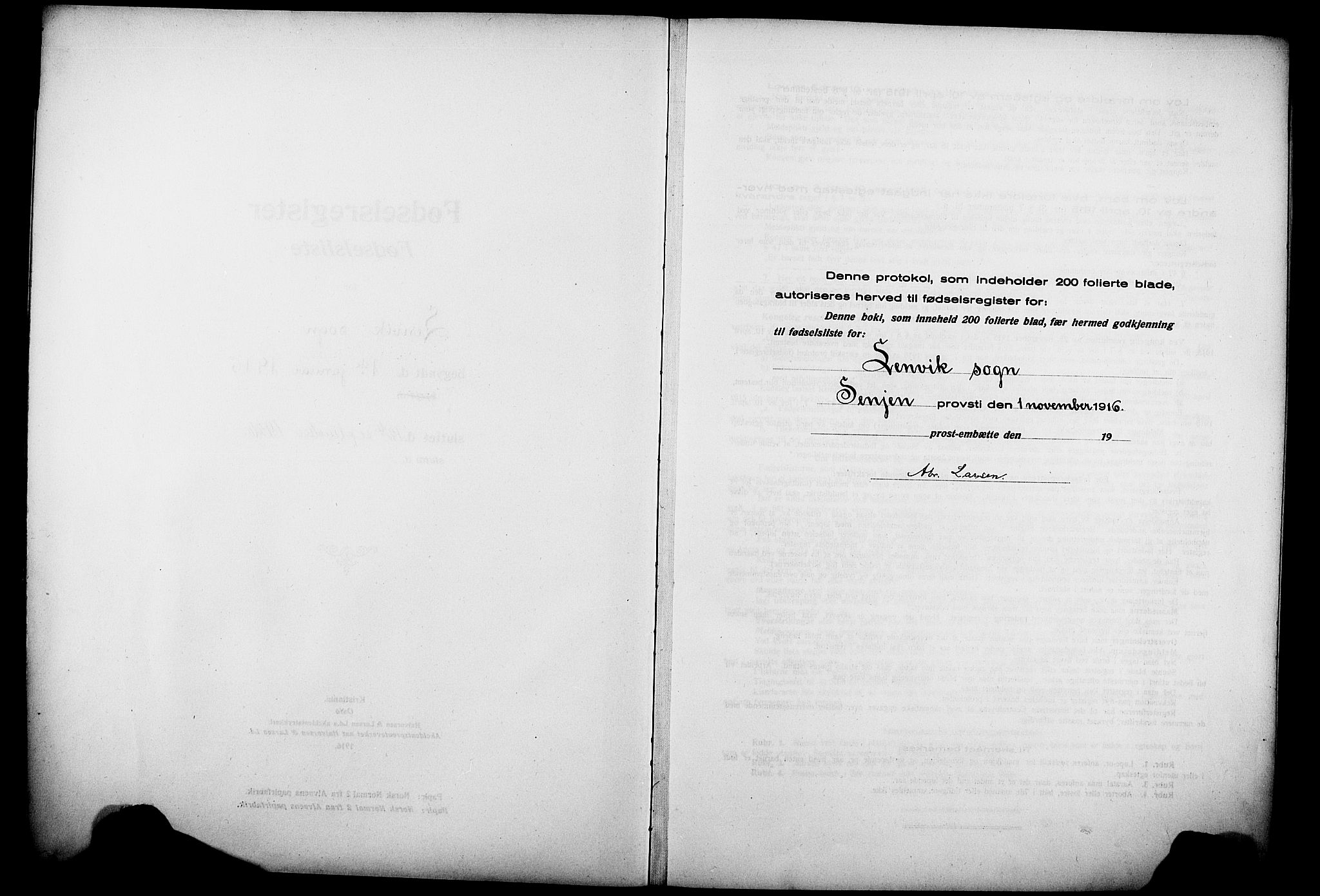 SATØ, Lenvik sokneprestembete, I/Ic/L0089: Birth register no. 89, 1916-1926