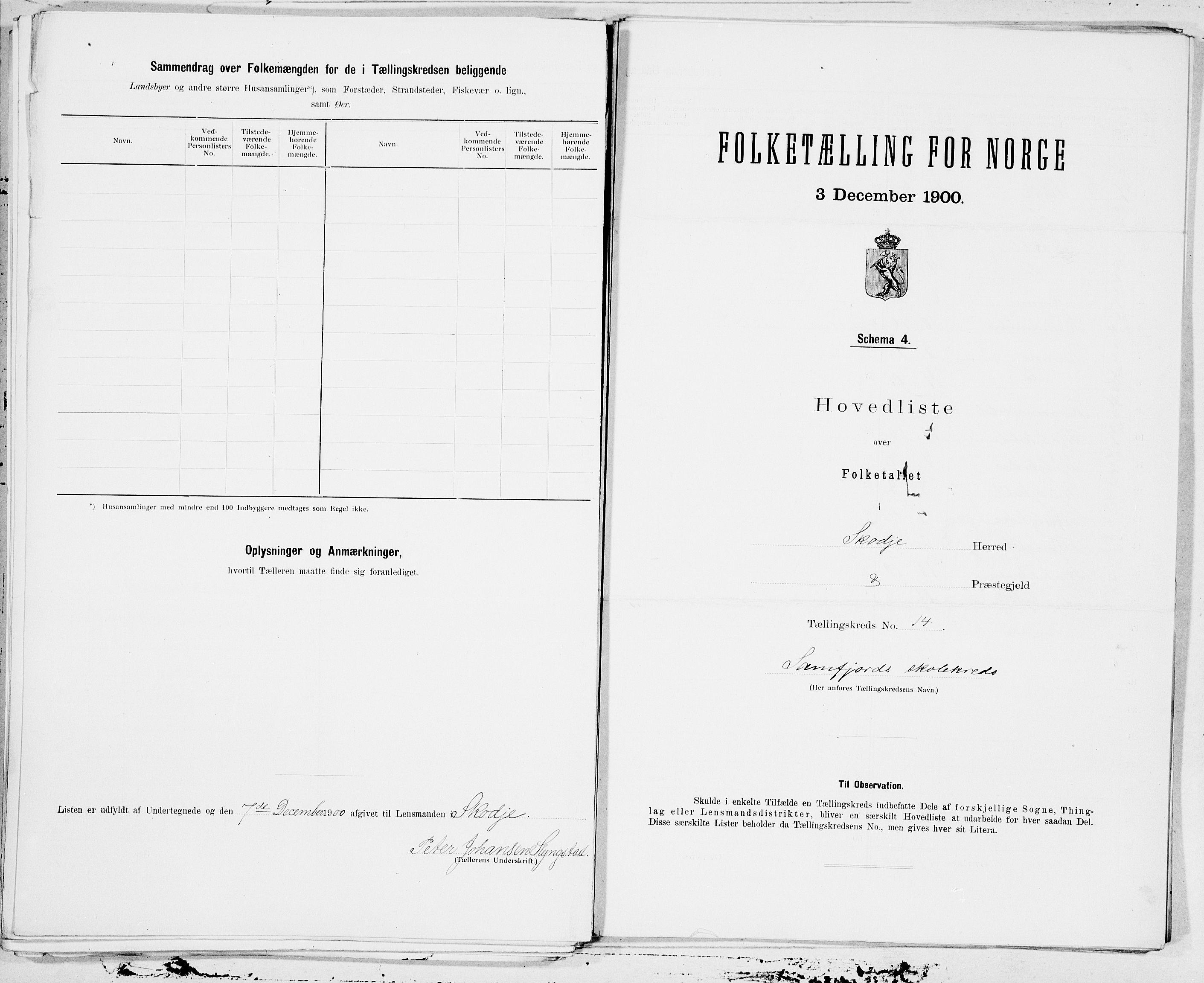 SAT, 1900 census for Skodje, 1900, p. 28