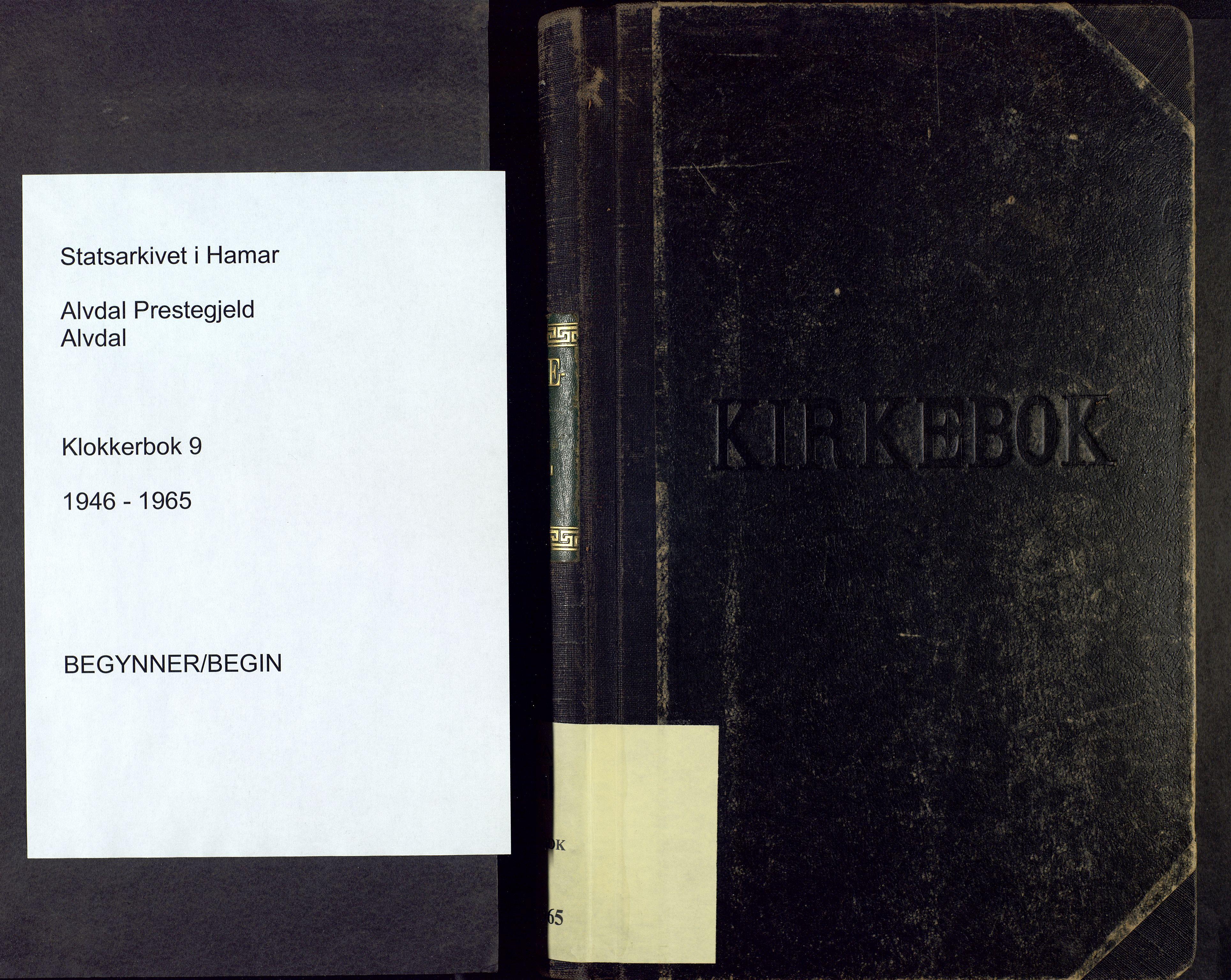 SAH, Alvdal prestekontor, Parish register (copy) no. 9, 1946-1965