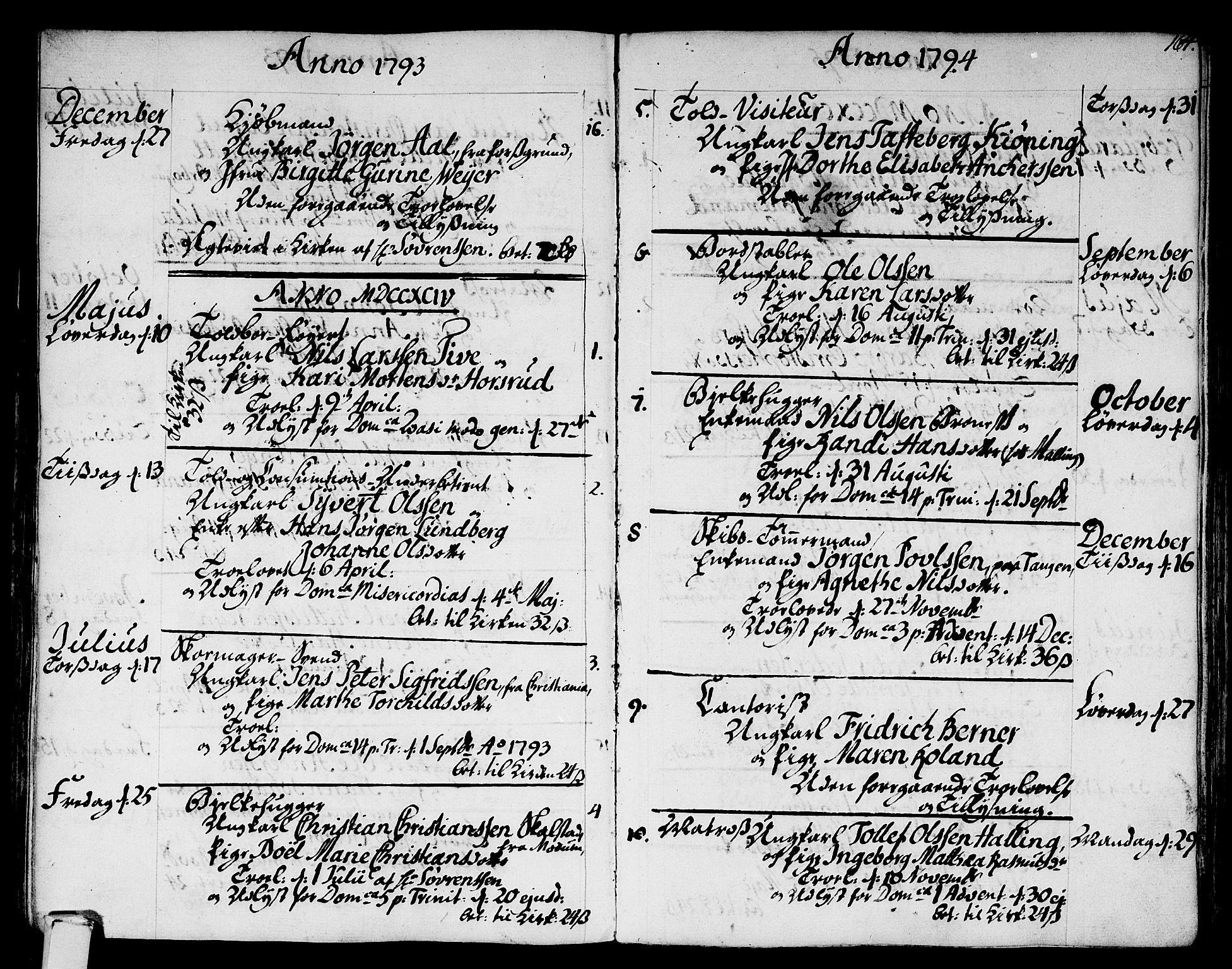 SAKO, Strømsø kirkebøker, F/Fa/L0010: Parish register (official) no. I 10, 1792-1822, p. 164