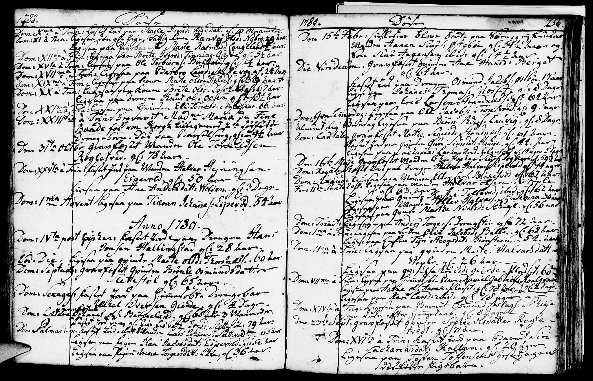 SAST, Vikedal sokneprestkontor, IV: Parish register (official) no. A 2, 1779-1817, p. 256