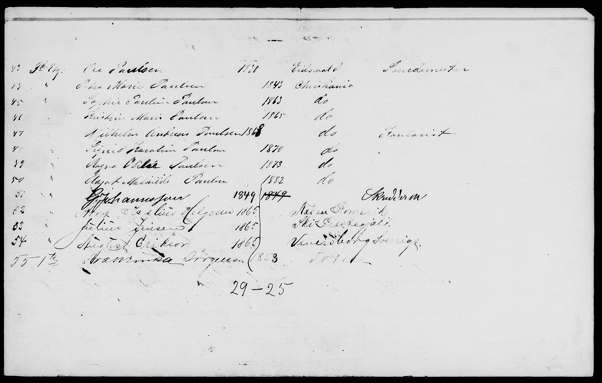 RA, 1885 census for 0301 Kristiania, 1885, p. 5586