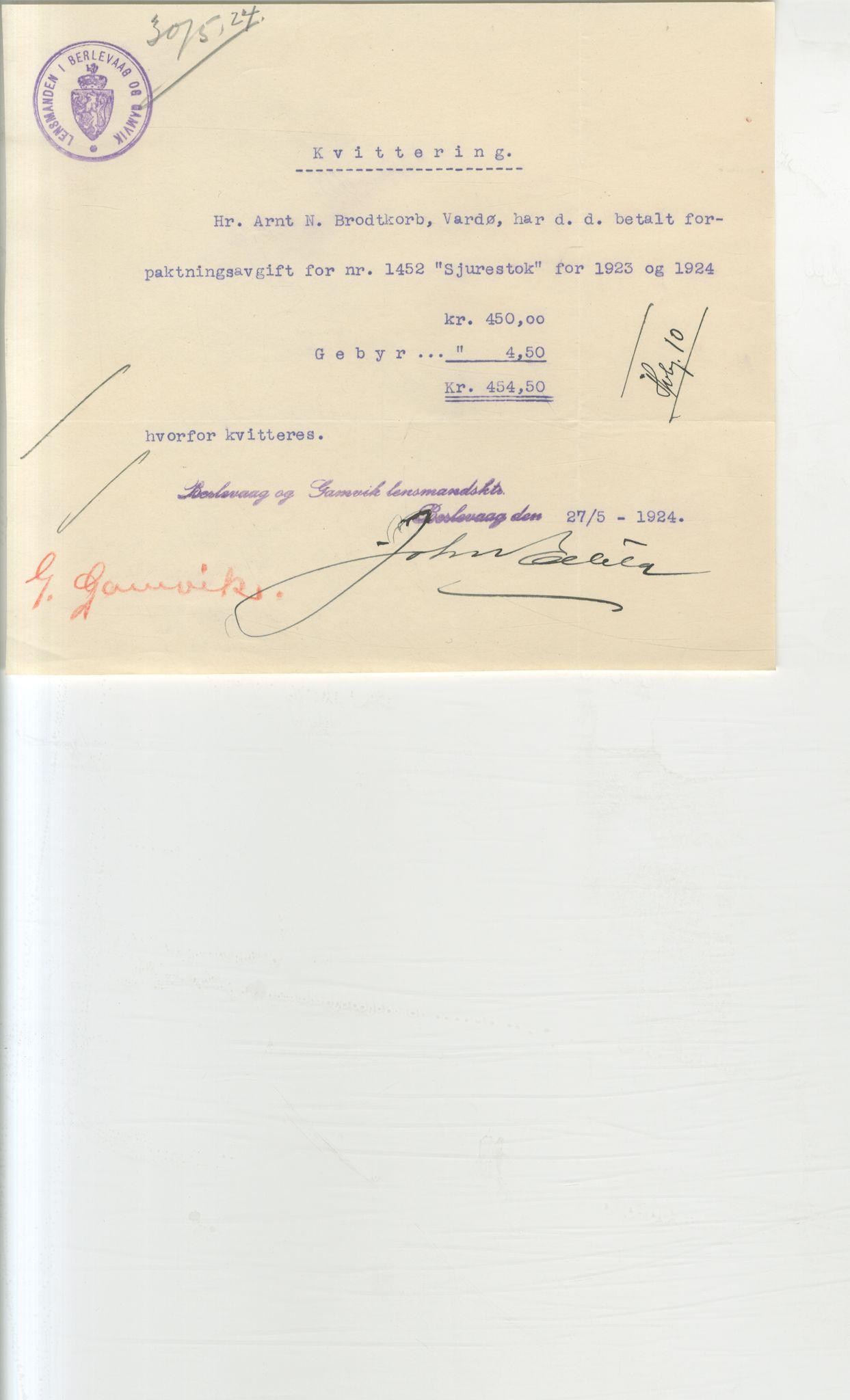 VAMU, Brodtkorb handel A/S, Q/Qb/L0003: Faste eiendommer i Vardø Herred, 1862-1939, p. 382
