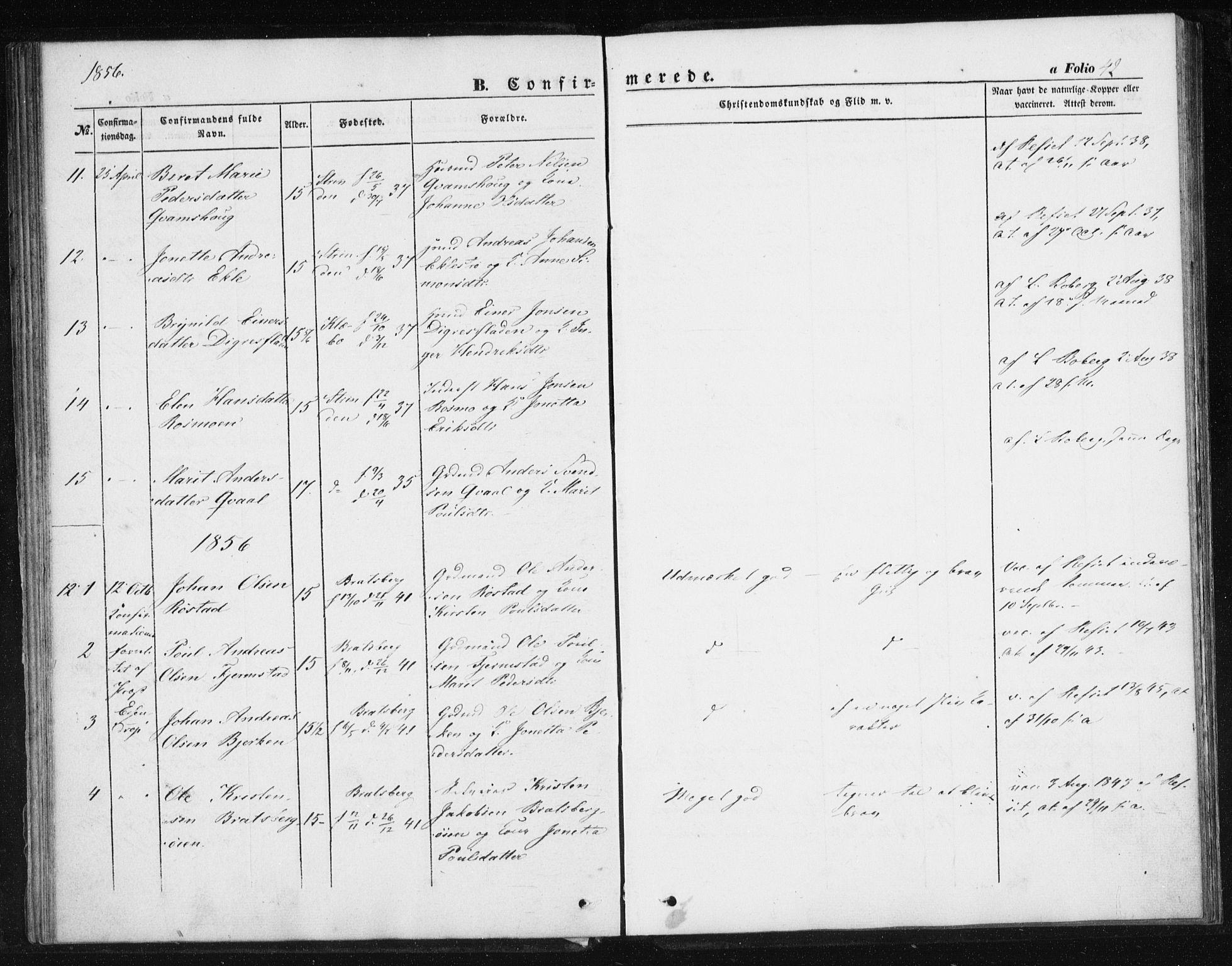 SAT, Ministerialprotokoller, klokkerbøker og fødselsregistre - Sør-Trøndelag, 608/L0332: Parish register (official) no. 608A01, 1848-1861, p. 42