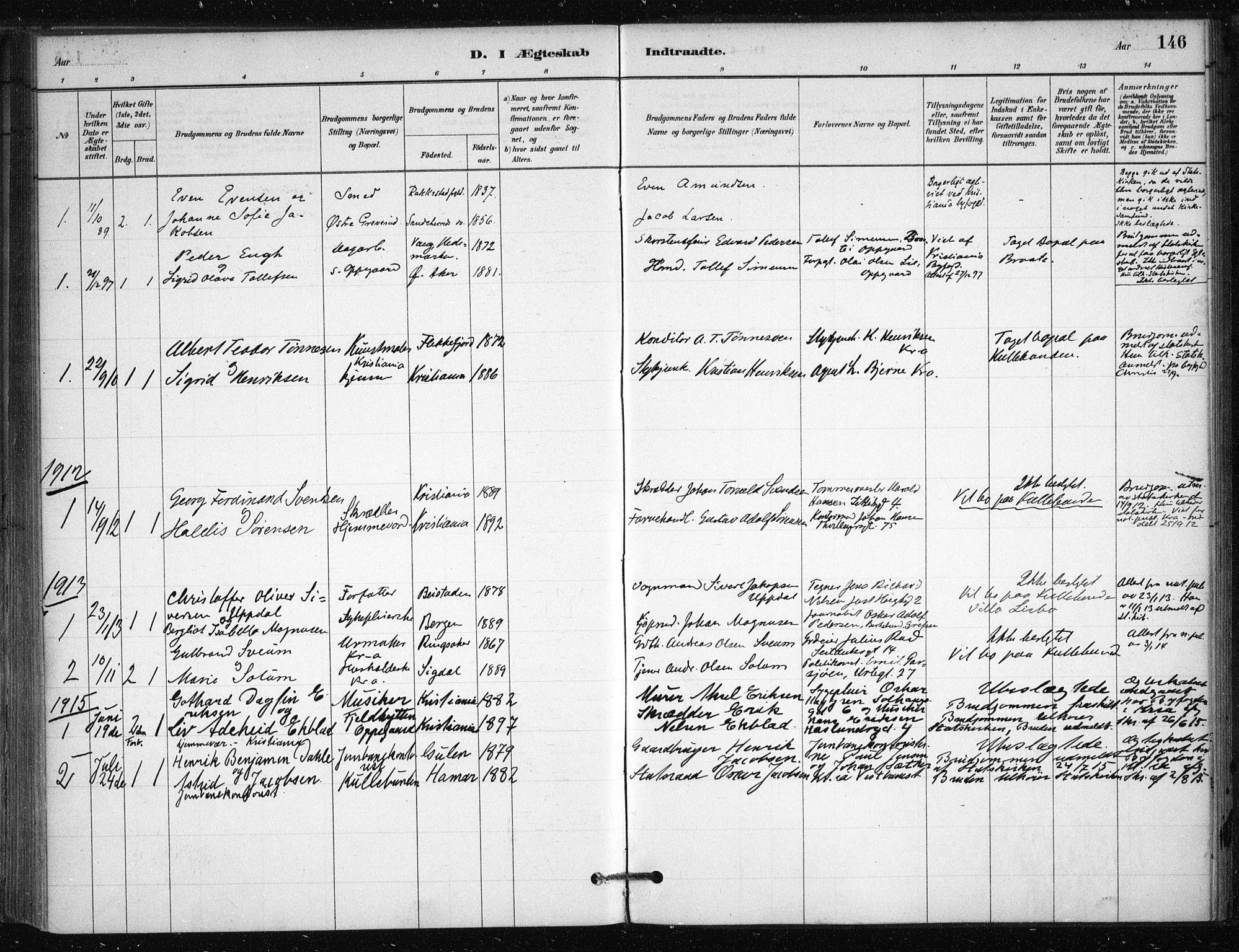 SAO, Nesodden prestekontor Kirkebøker, F/Fb/L0001: Parish register (official) no. II 1, 1880-1915, p. 146