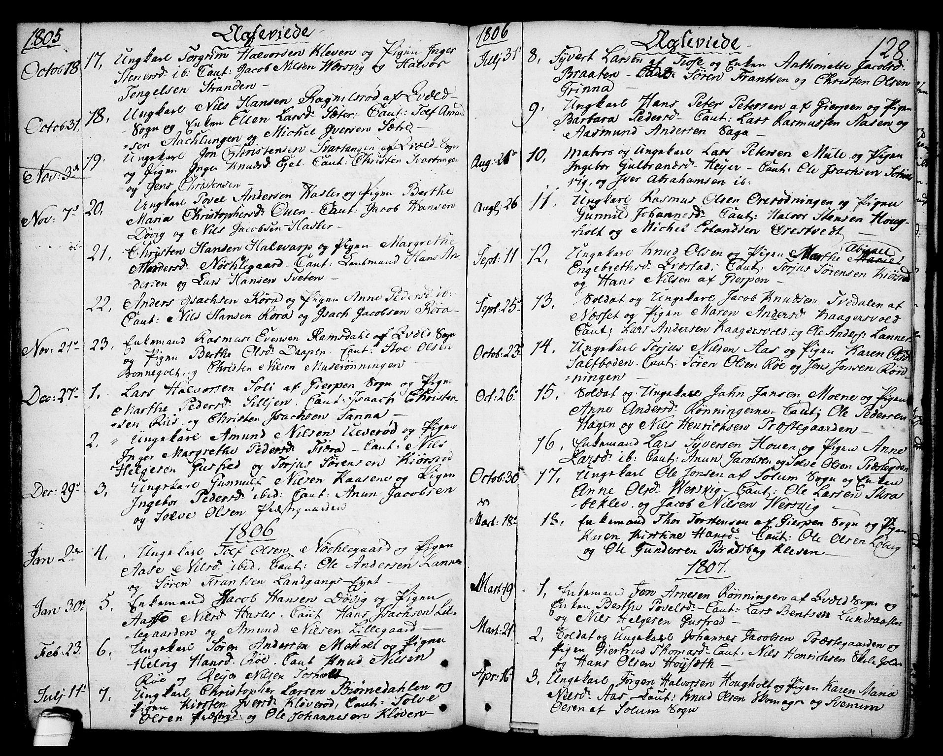 SAKO, Eidanger kirkebøker, F/Fa/L0006: Parish register (official) no. 6, 1764-1814, p. 128