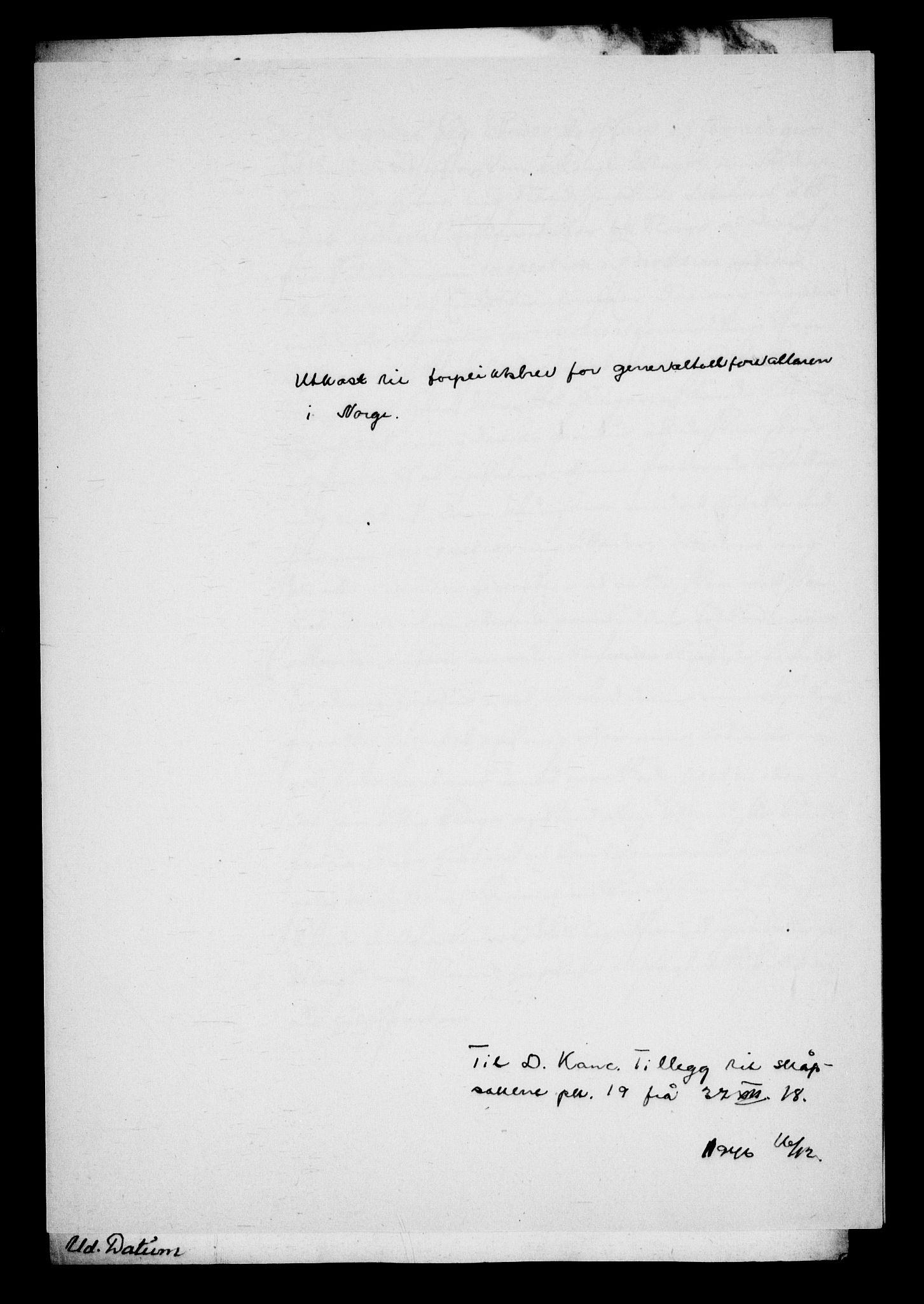 RA, Danske Kanselli, Skapsaker, G/L0019: Tillegg til skapsakene, 1616-1753, p. 151