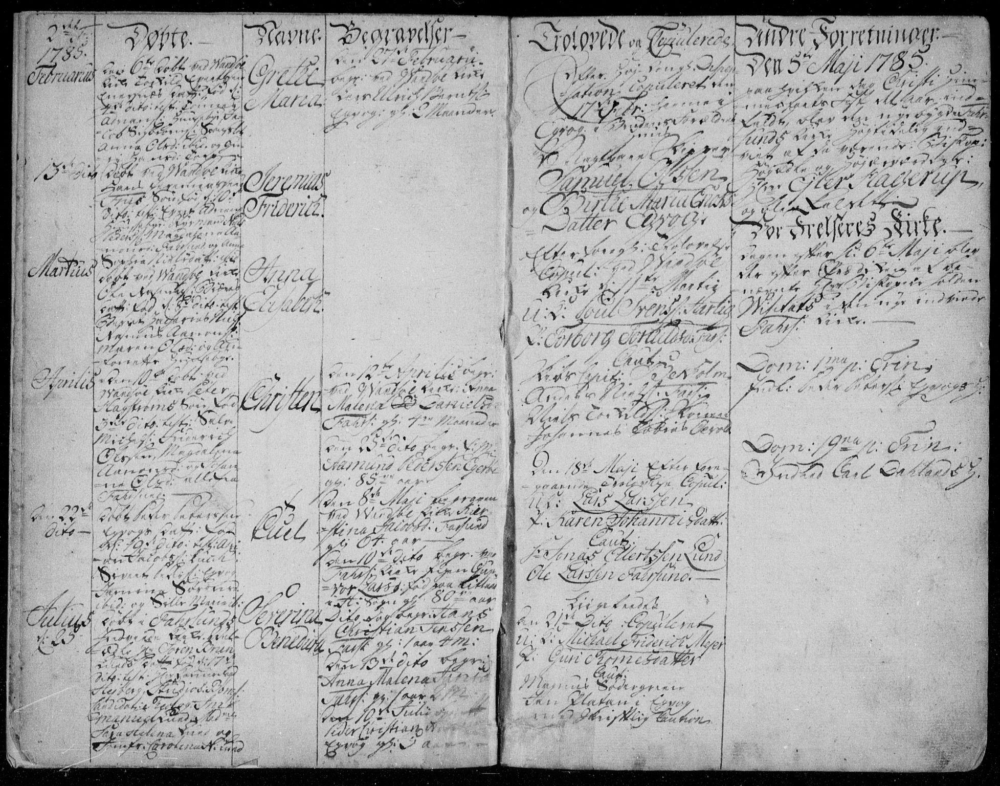 SAK, Farsund sokneprestkontor, F/Fa/L0001: Parish register (official) no. A 1, 1784-1815, p. 3