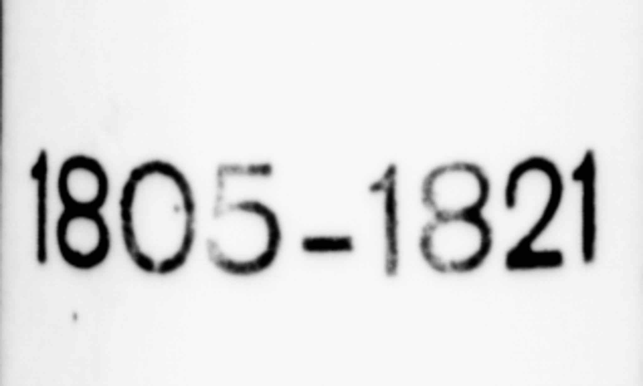 SAB, Lærdal sokneprestembete, Parish register (official) no. A 4, 1805-1821
