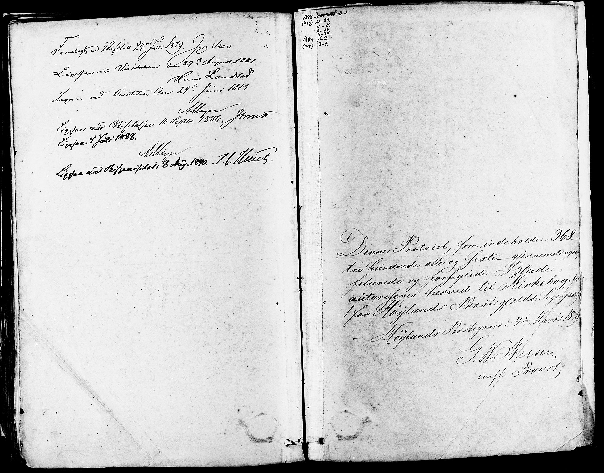 SAST, Høyland sokneprestkontor, 30BA/L0011: Parish register (official) no. A 10, 1878-1888