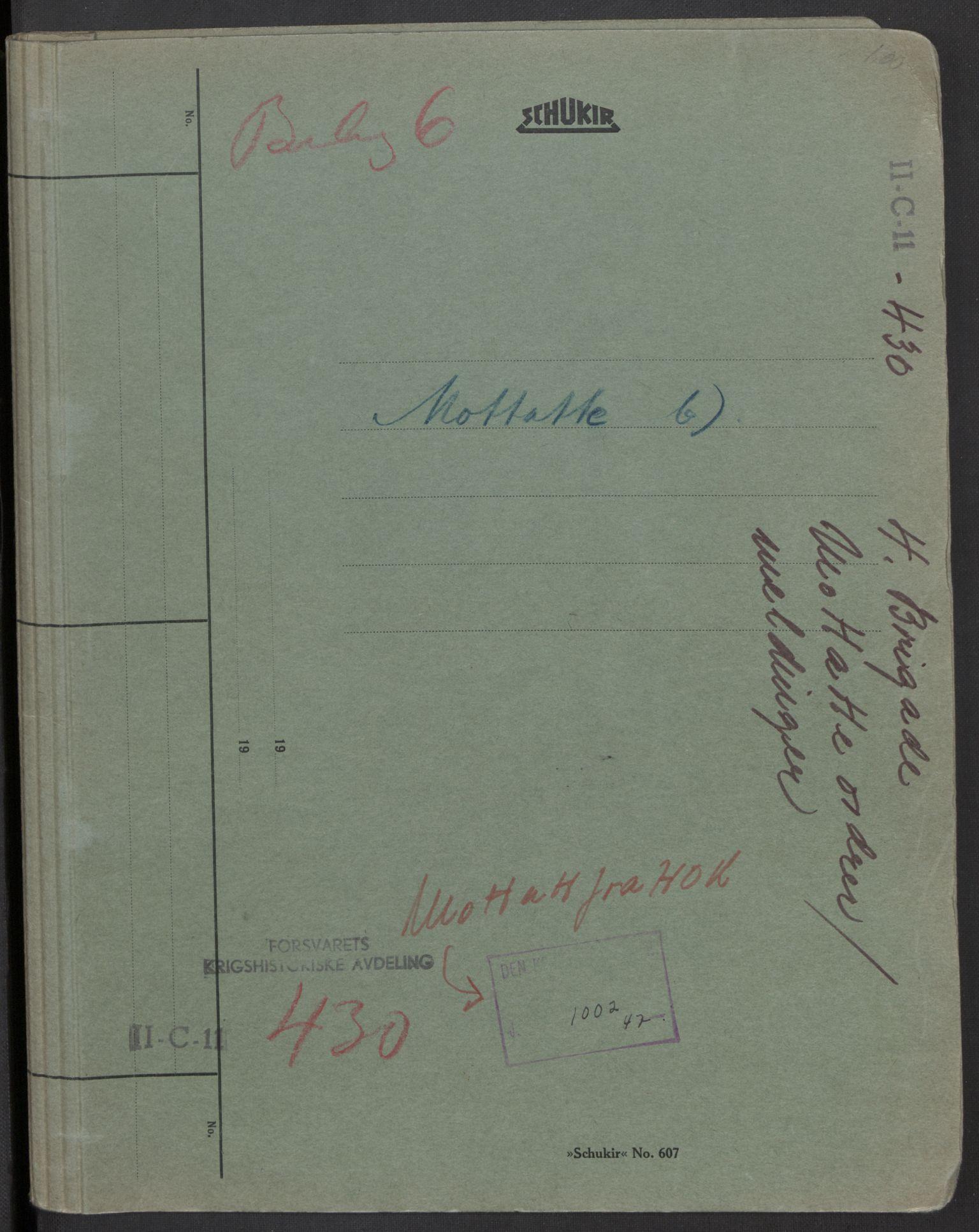 RA, Forsvaret, Forsvarets krigshistoriske avdeling, Y/Yb/L0104: II-C-11-430  -  4. Divisjon., 1940, p. 329