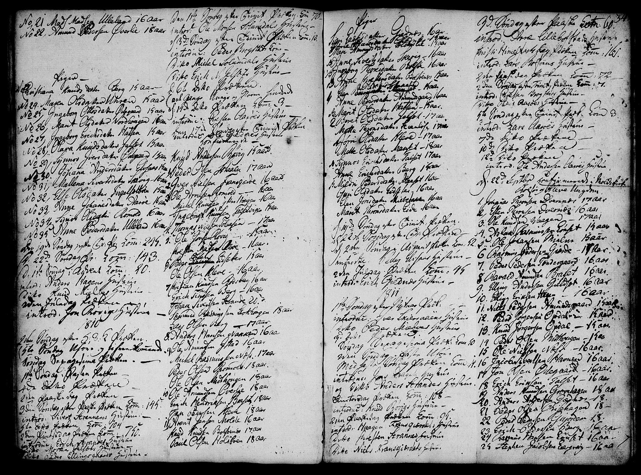 SAT, Ministerialprotokoller, klokkerbøker og fødselsregistre - Møre og Romsdal, 555/L0649: Parish register (official) no. 555A02 /1, 1795-1821, p. 34