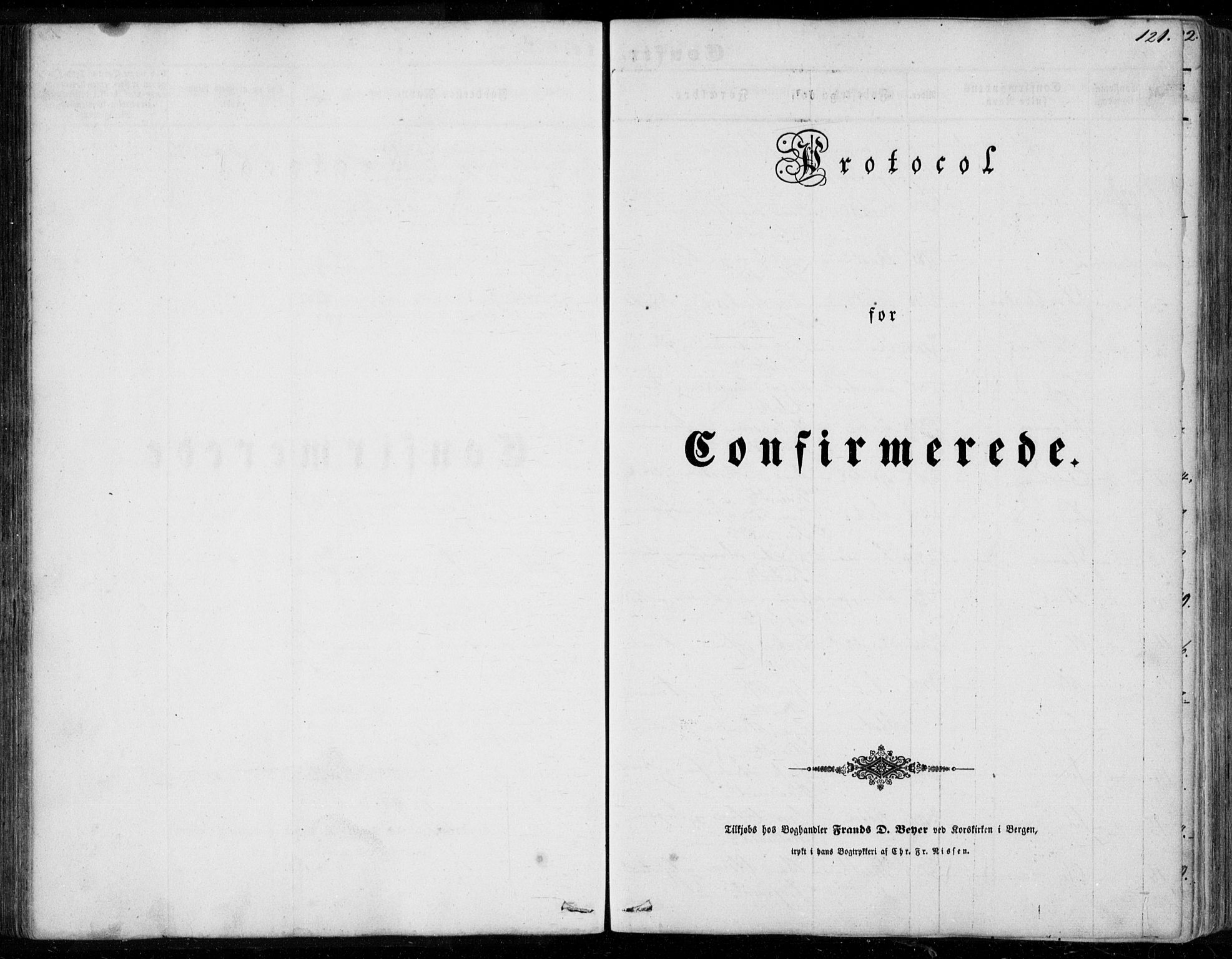 SAB, Os sokneprestembete*, Parish register (official) no. A 16, 1851-1859, p. 121
