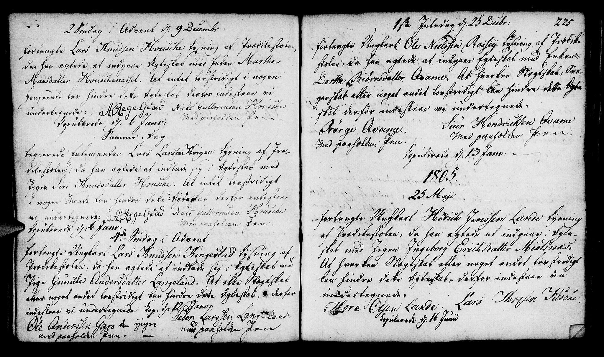 SAST, Finnøy sokneprestkontor, H/Ha/Haa/L0005: Parish register (official) no. A 5, 1773-1816, p. 225