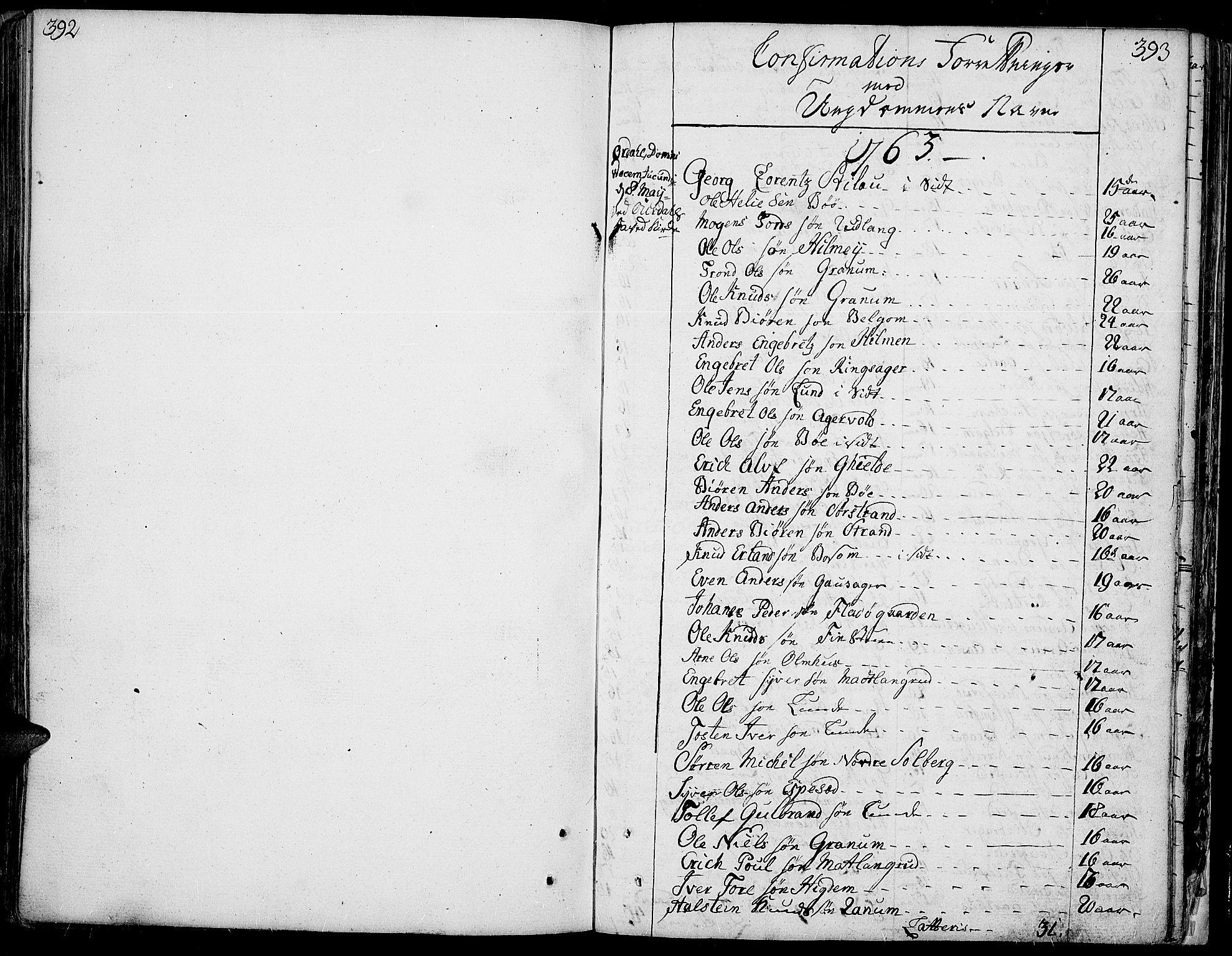 SAH, Aurdal prestekontor, Parish register (official) no. 5, 1763-1781, p. 392-393
