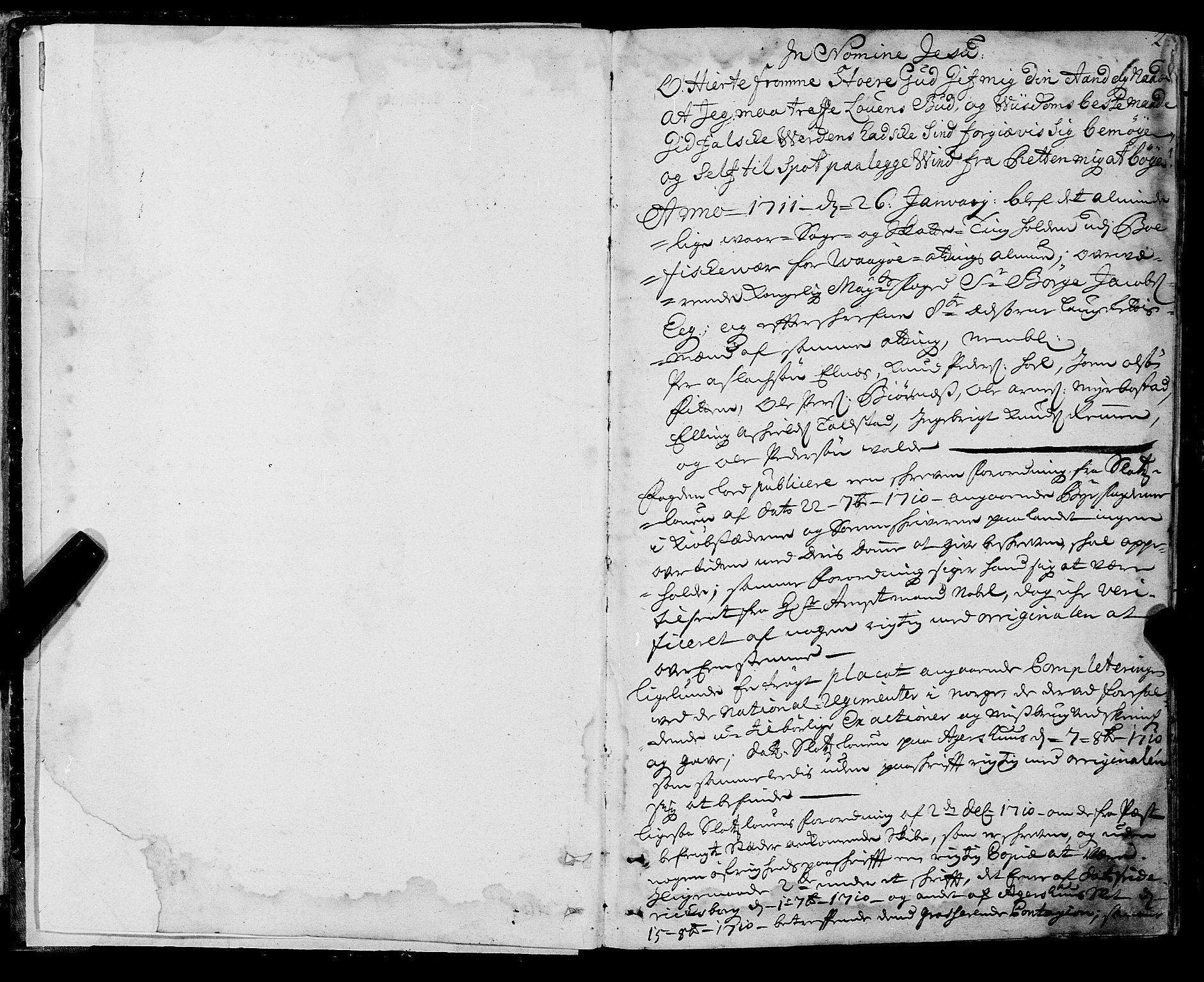 SAT, Romsdal sorenskriveri, 1/1A/L0007: Tingbok, 1711-1714, p. 1b-2a