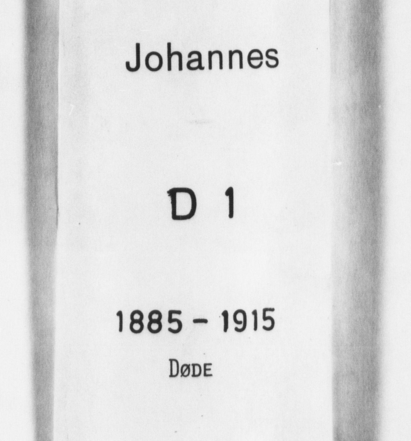 SAB, Johanneskirken Sokneprestembete, H/Hab: Parish register (copy) no. D 1, 1885-1915